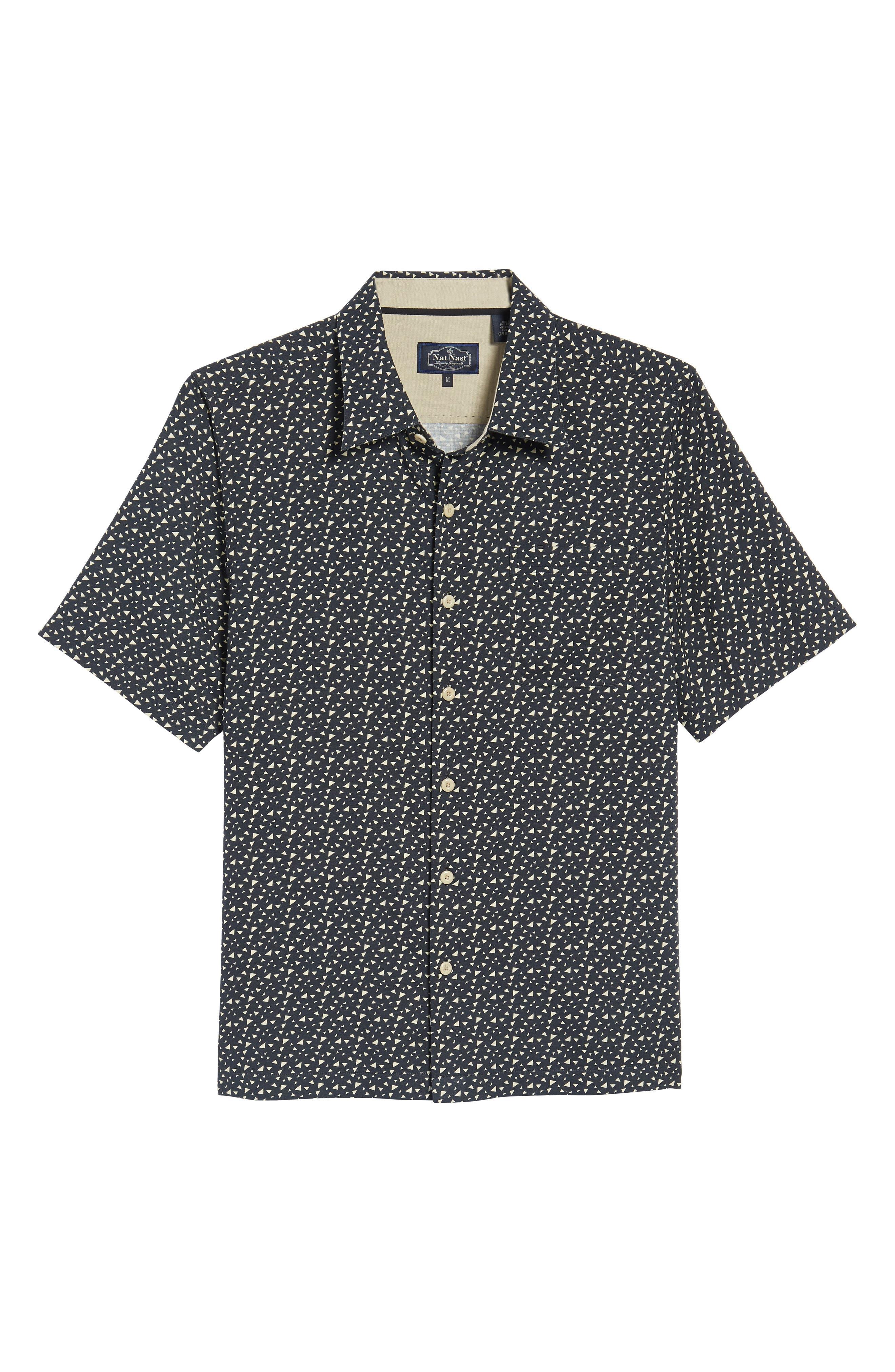 NAT NAST,                             Bermuda Triangle Camp Shirt,                             Alternate thumbnail 6, color,                             001