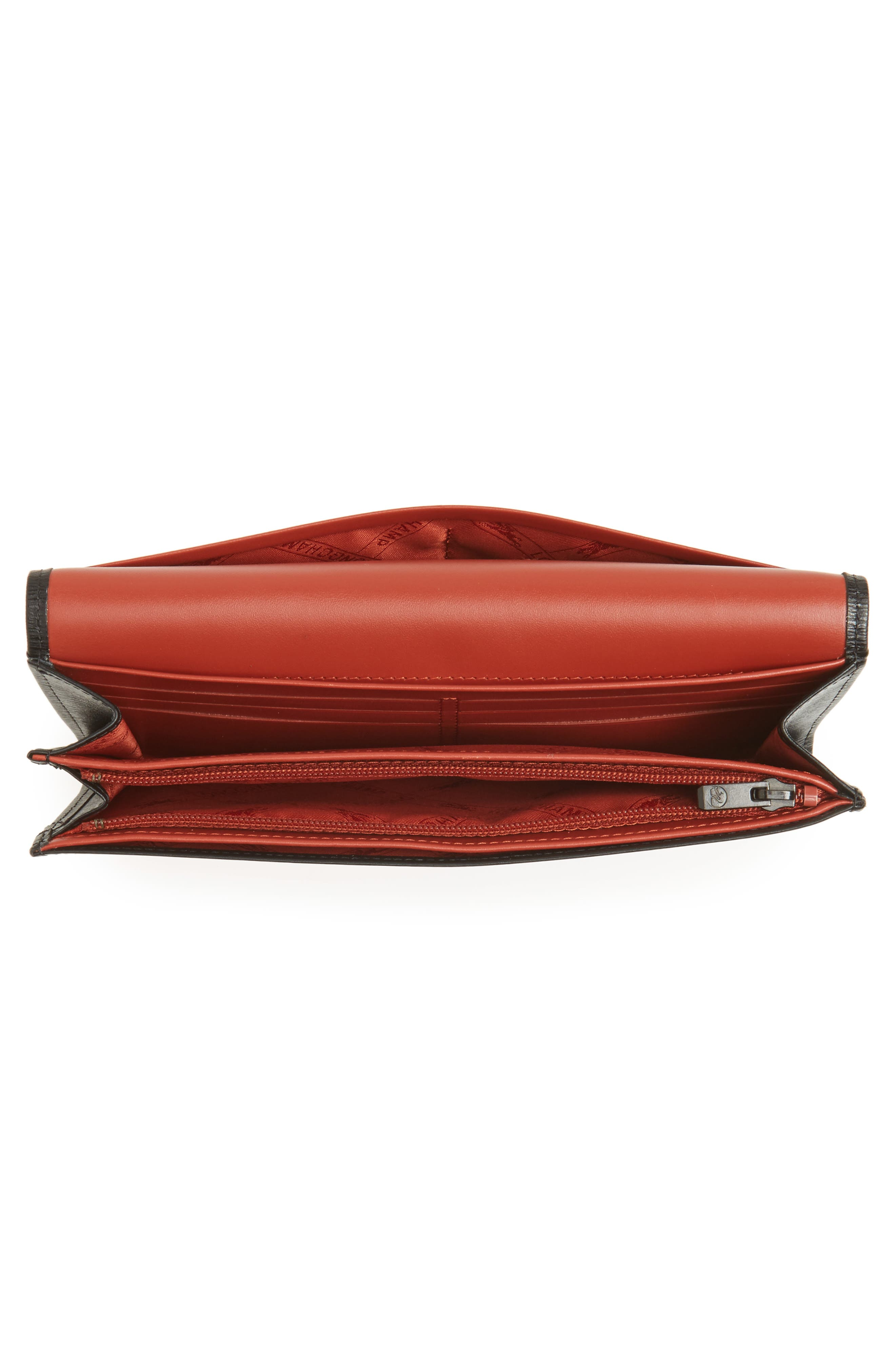 Roseau Leather Continental Wallet,                             Alternate thumbnail 4, color,                             002