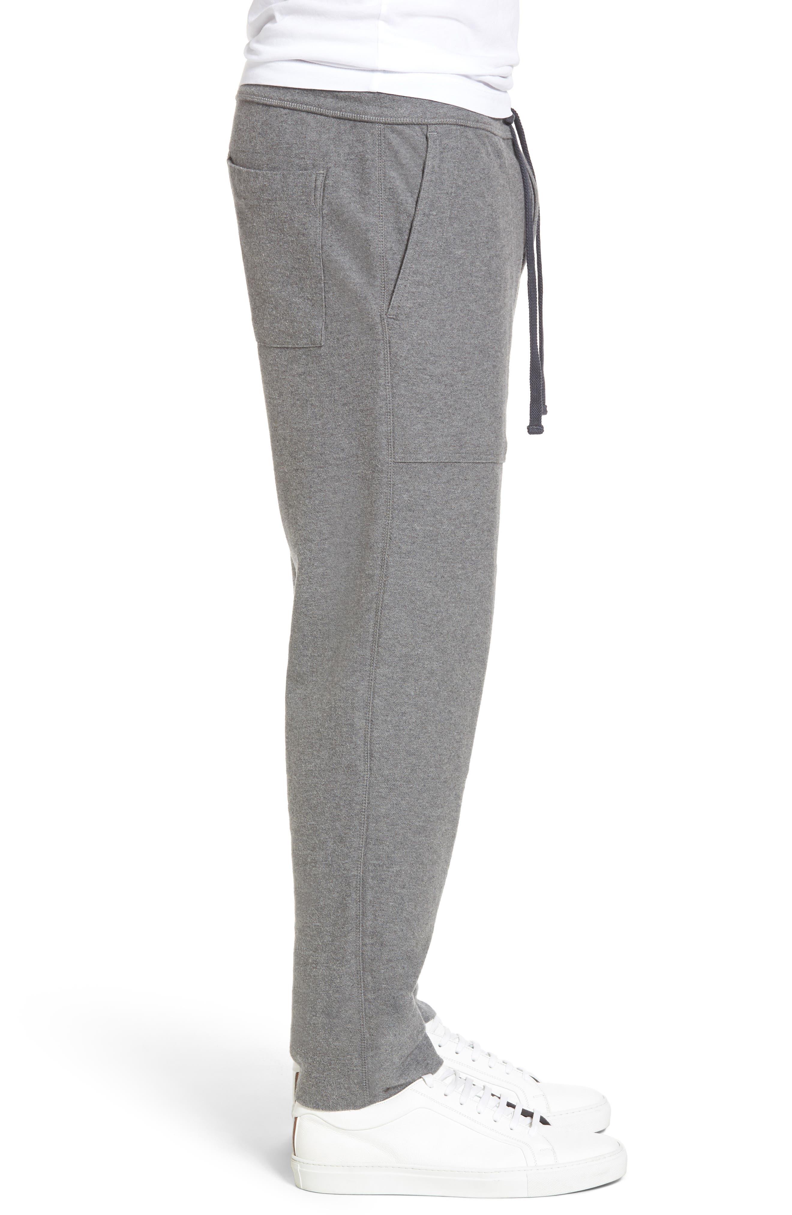 Heathered Knit Lounge Pants,                             Alternate thumbnail 3, color,                             086