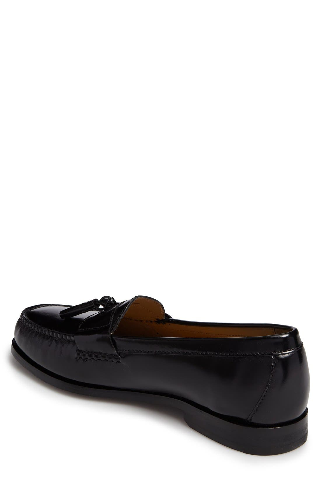 'Pinch Grand' Tassel Loafer,                             Alternate thumbnail 6, color,                             001
