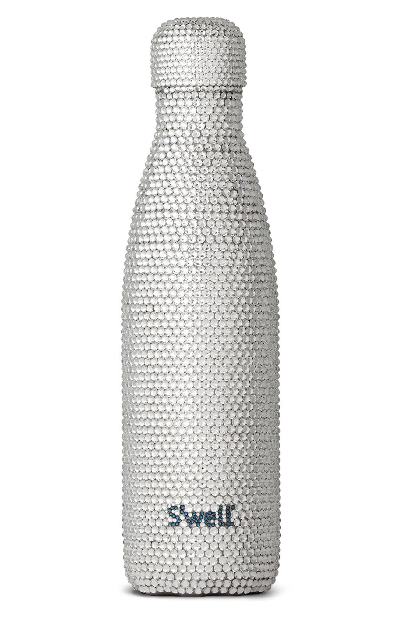 Alina Swarovski Crystal Insulated Stainless Steel Water Bottle,                         Main,                         color,