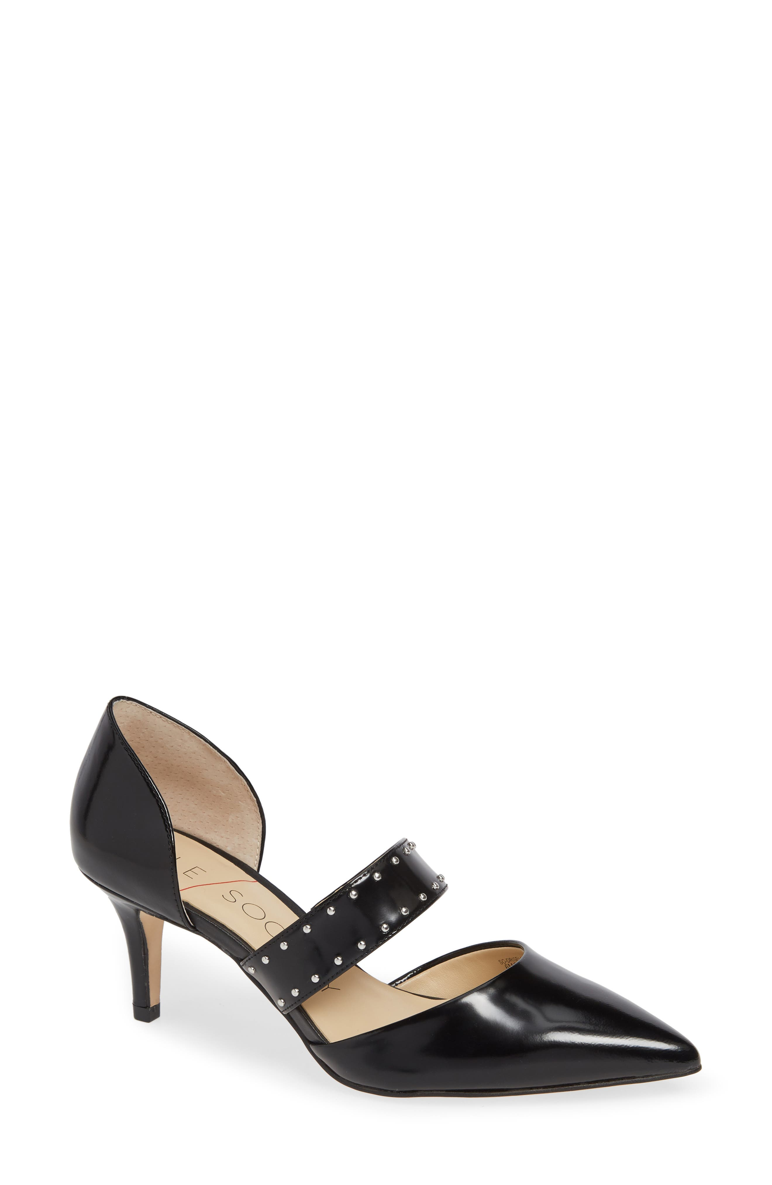 SOLE SOCIETY Drisela Pump, Main, color, BLACK LEATHER