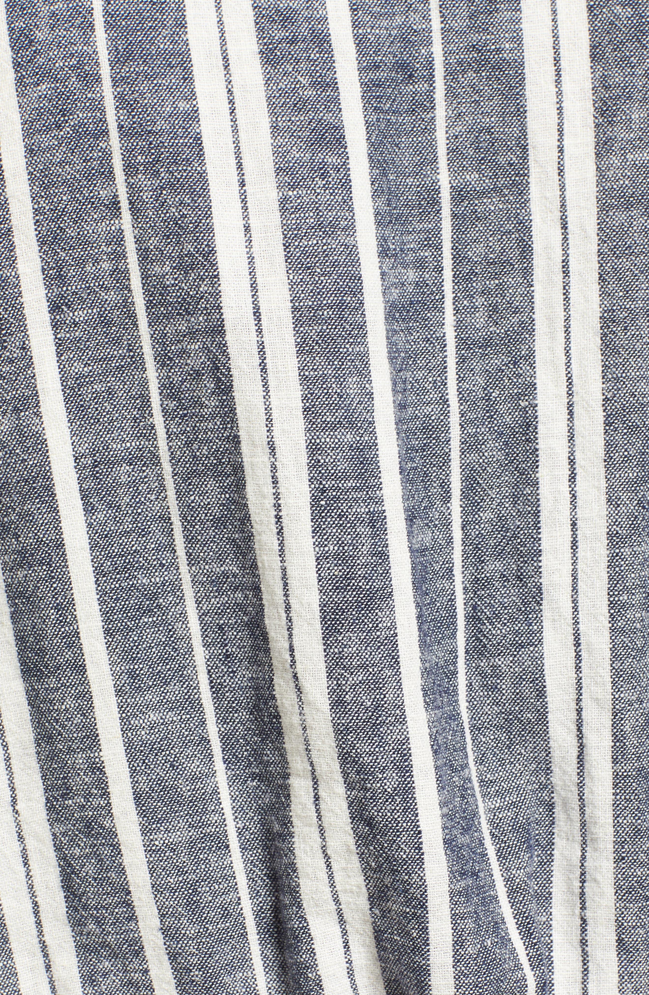 Stripe Linen Blend Vest,                             Alternate thumbnail 5, color,