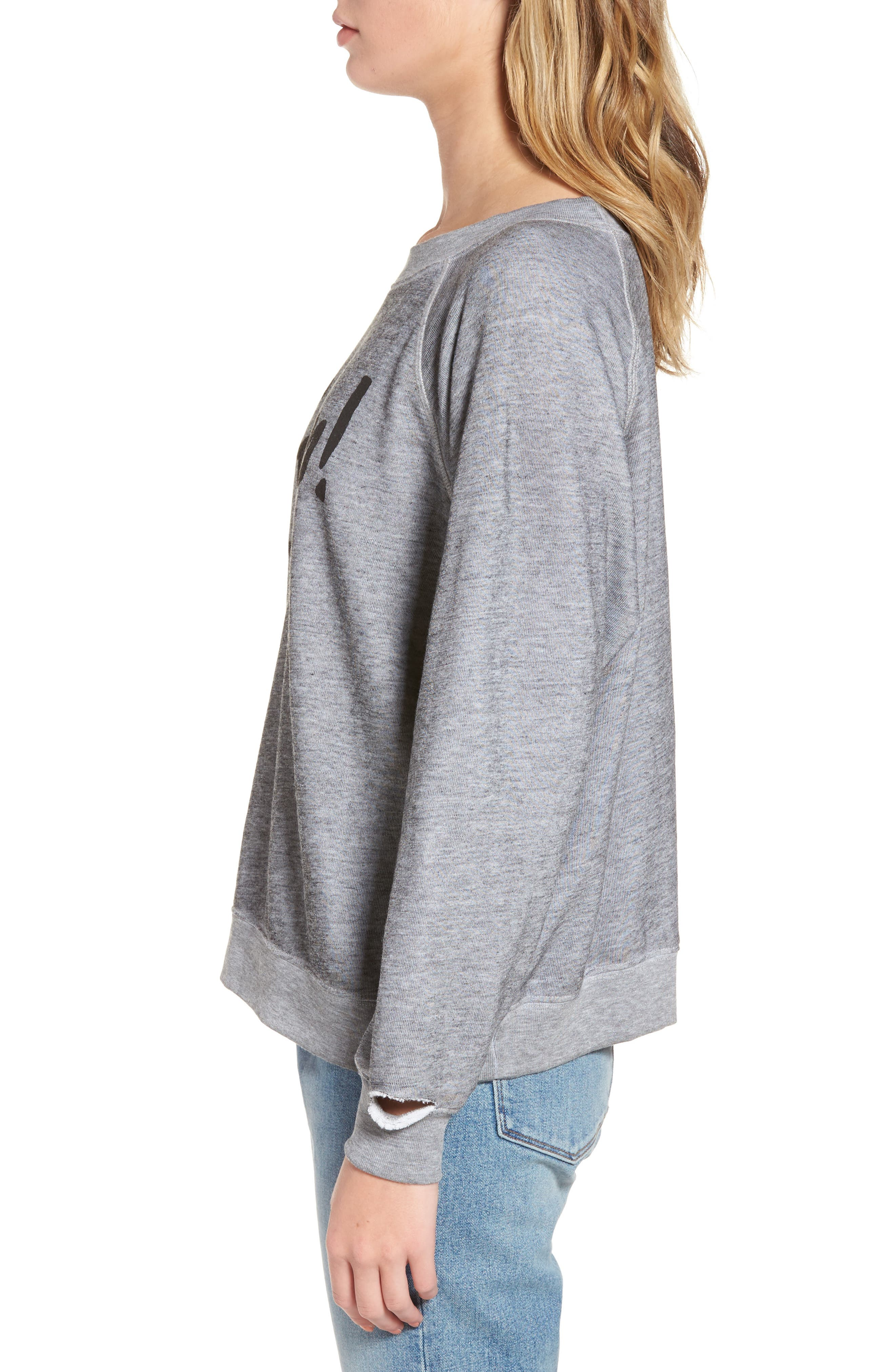 Gasp Thrashed Sommers Sweatshirt,                             Alternate thumbnail 3, color,                             020