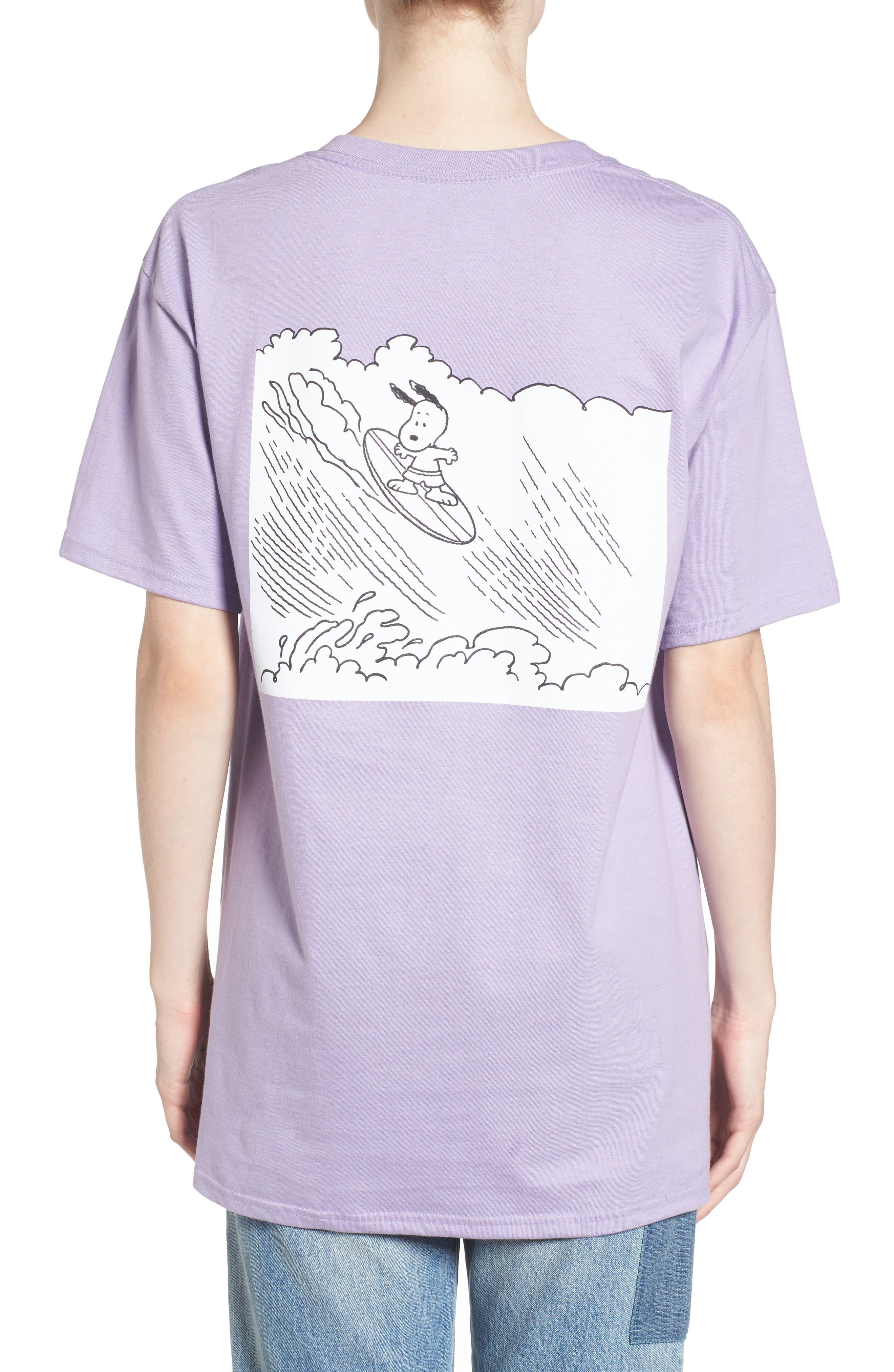 Peanuts Snoopy Surf T-Shirt,                             Alternate thumbnail 3, color,                             510