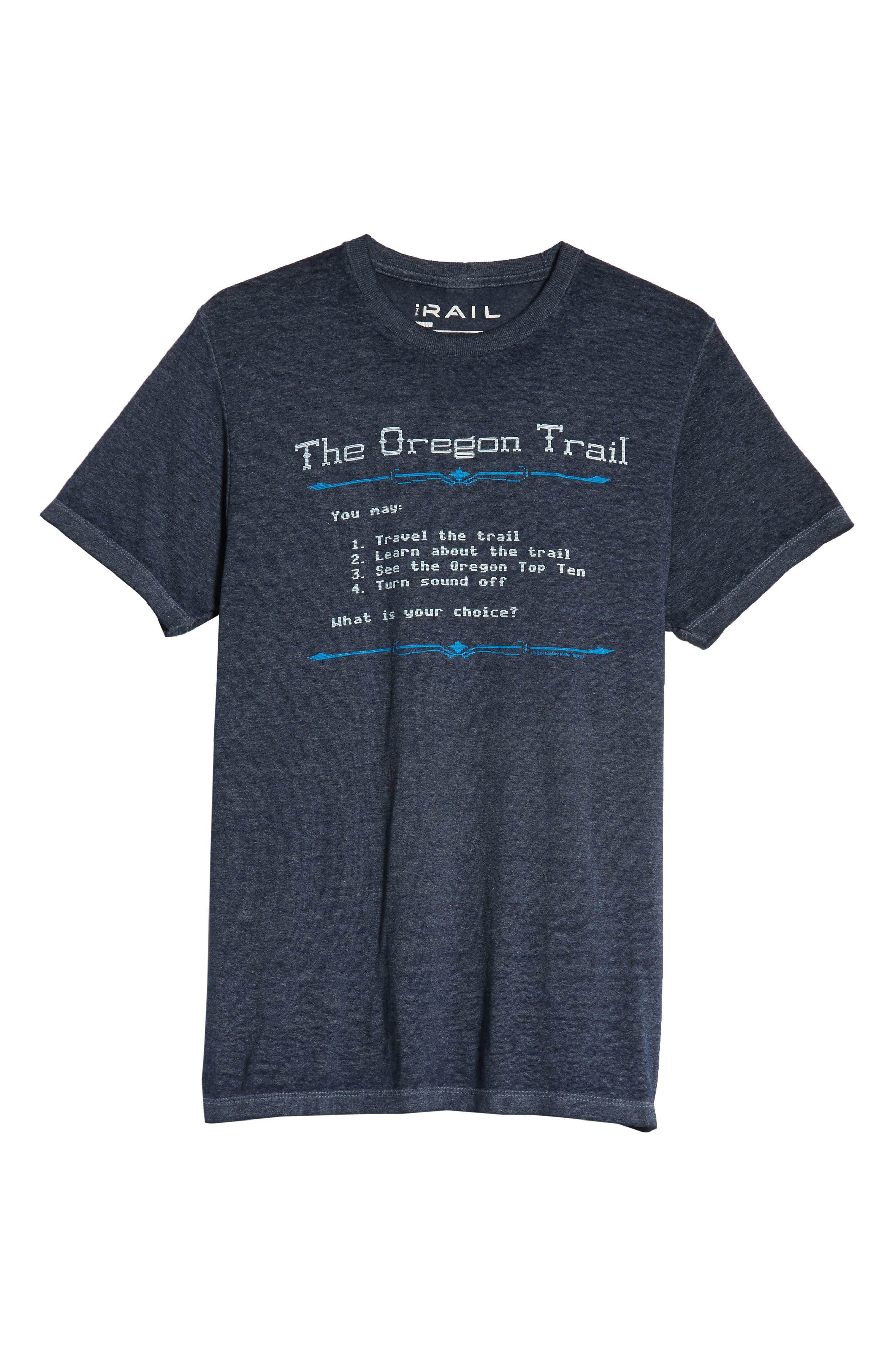 Oregon Trail T-Shirt,                             Alternate thumbnail 6, color,                             001