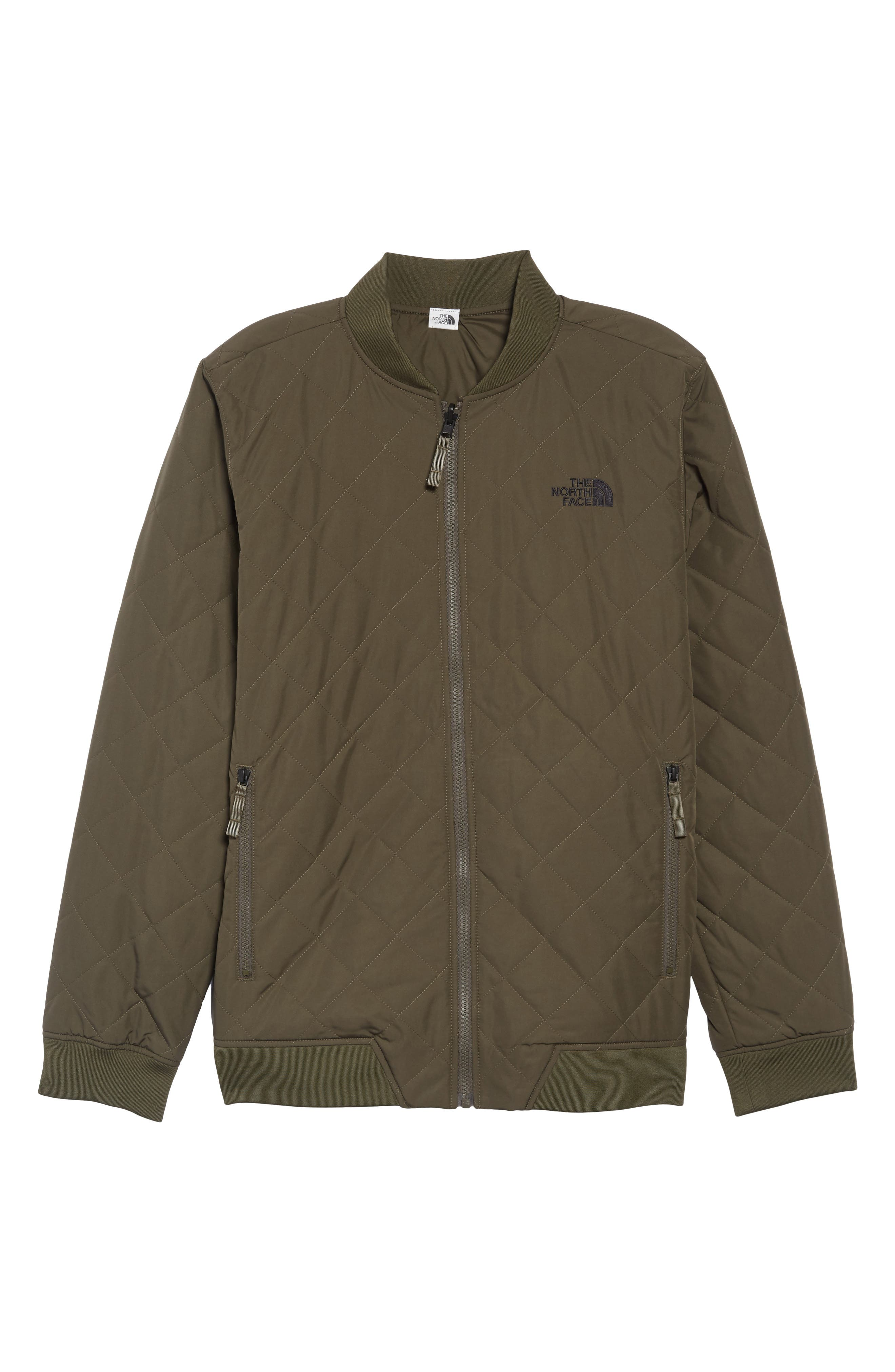 THE NORTH FACE,                             Jester Reversible Bomber Jacket,                             Alternate thumbnail 7, color,                             NEW TAUPE GREEN