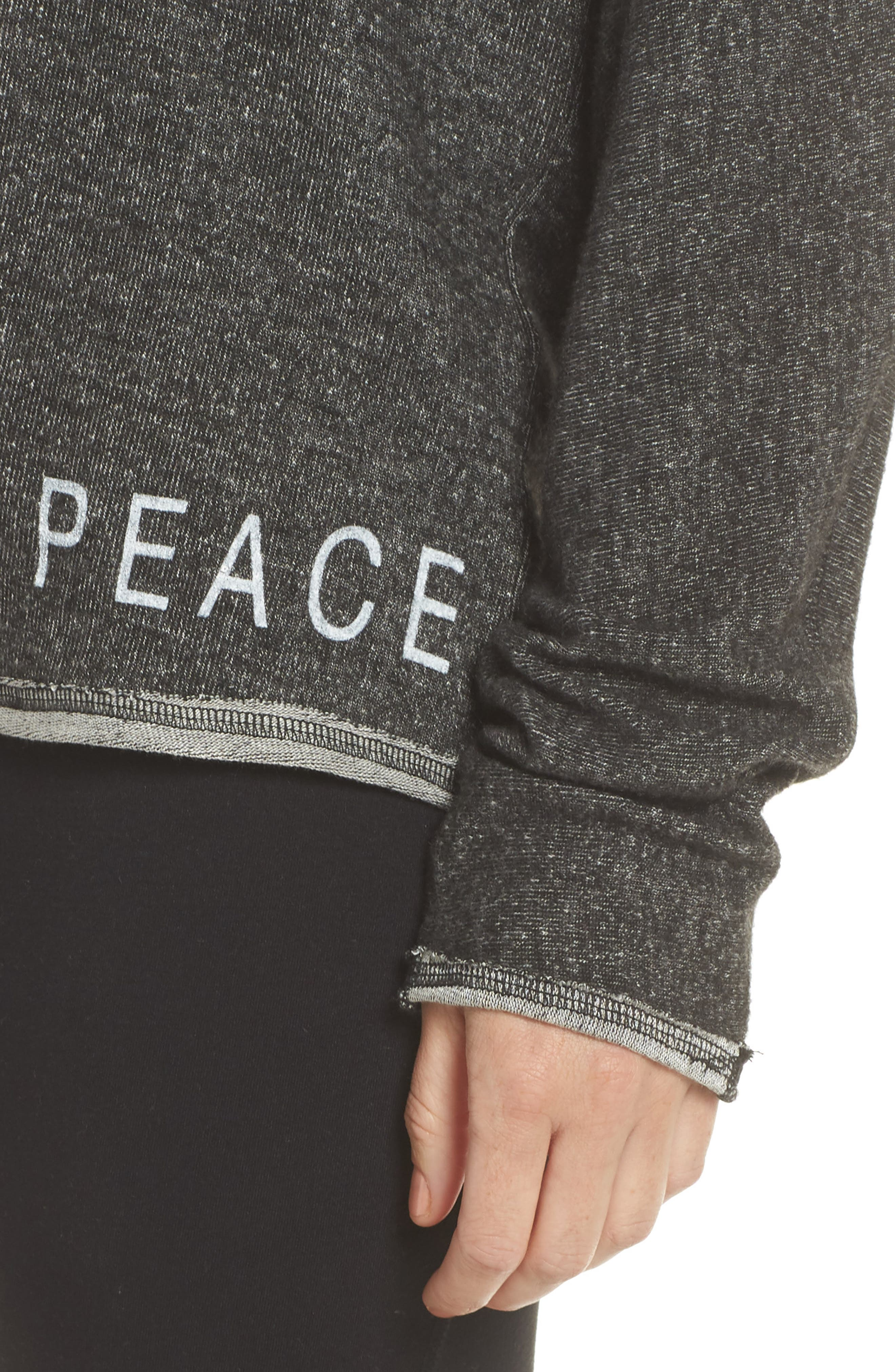 Peace & Love Pullover Sweater,                             Alternate thumbnail 4, color,                             HEATHER