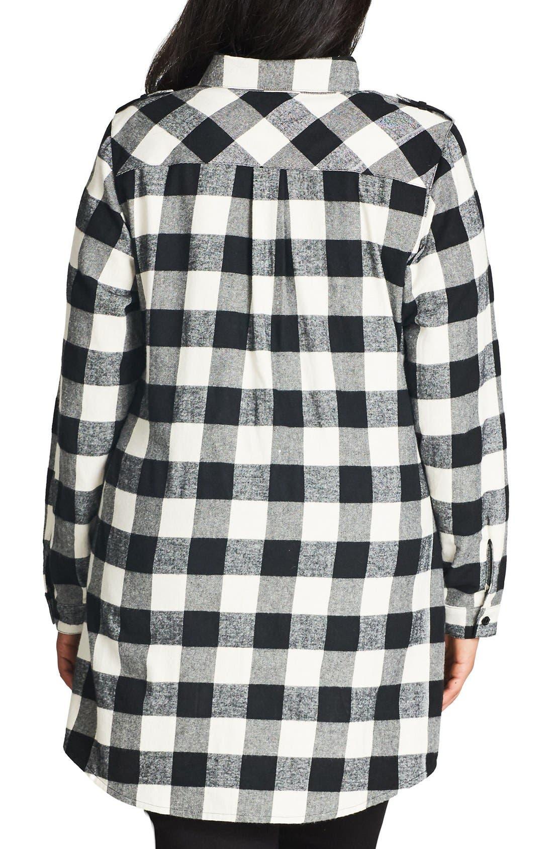 Plaid Boyfriend Shirt,                             Alternate thumbnail 4, color,