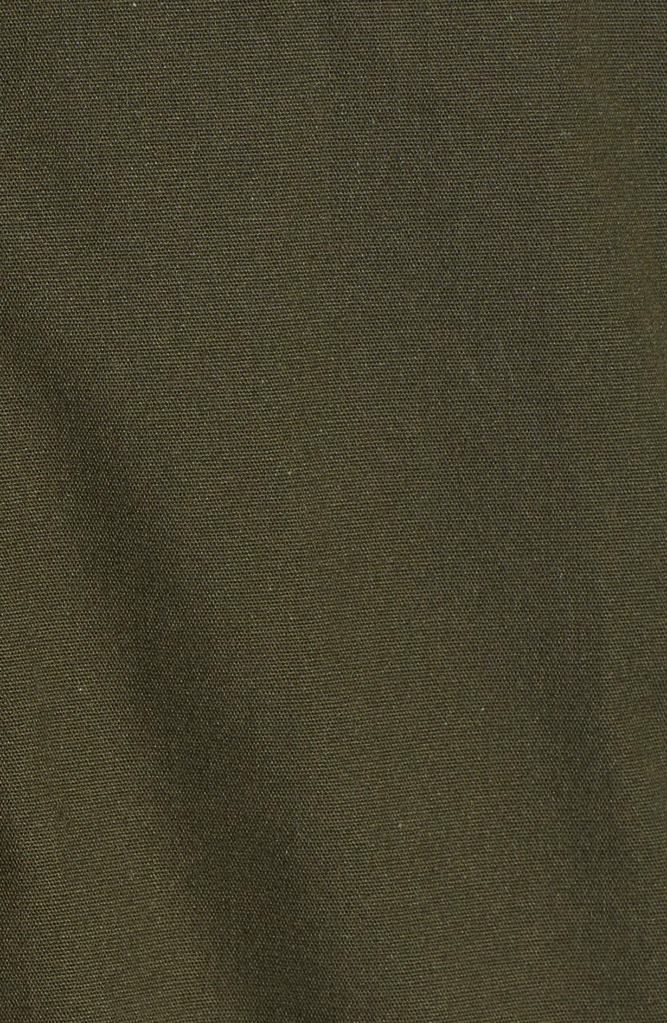 Convertible Down 3-in-1 Maternity Jacket,                             Alternate thumbnail 5, color,                             KHAKI GREEN