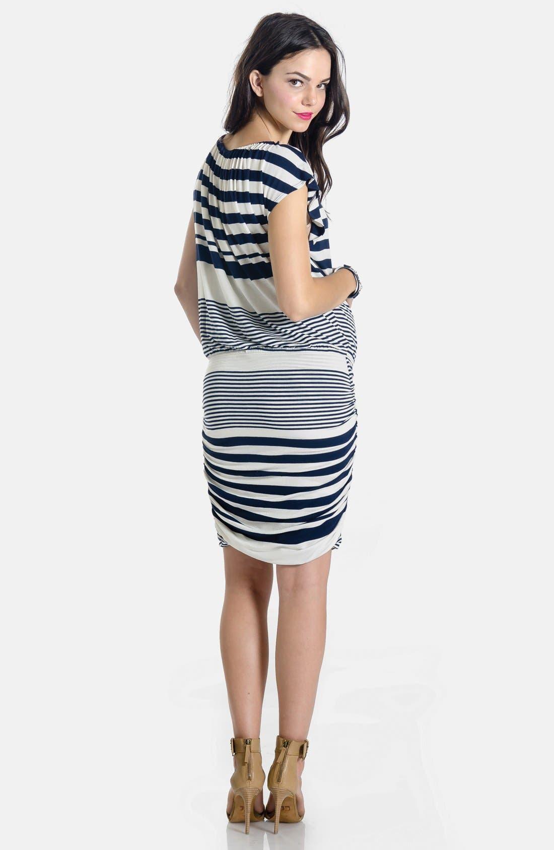 LILAC CLOTHING,                             'Mila' Maternity Dress,                             Alternate thumbnail 4, color,                             410