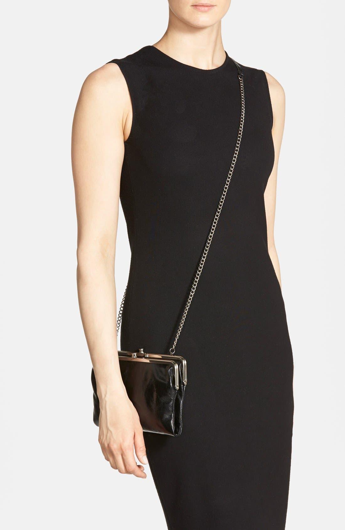 'Vintage Leanne' Leather Crossbody Bag,                             Alternate thumbnail 6, color,                             001