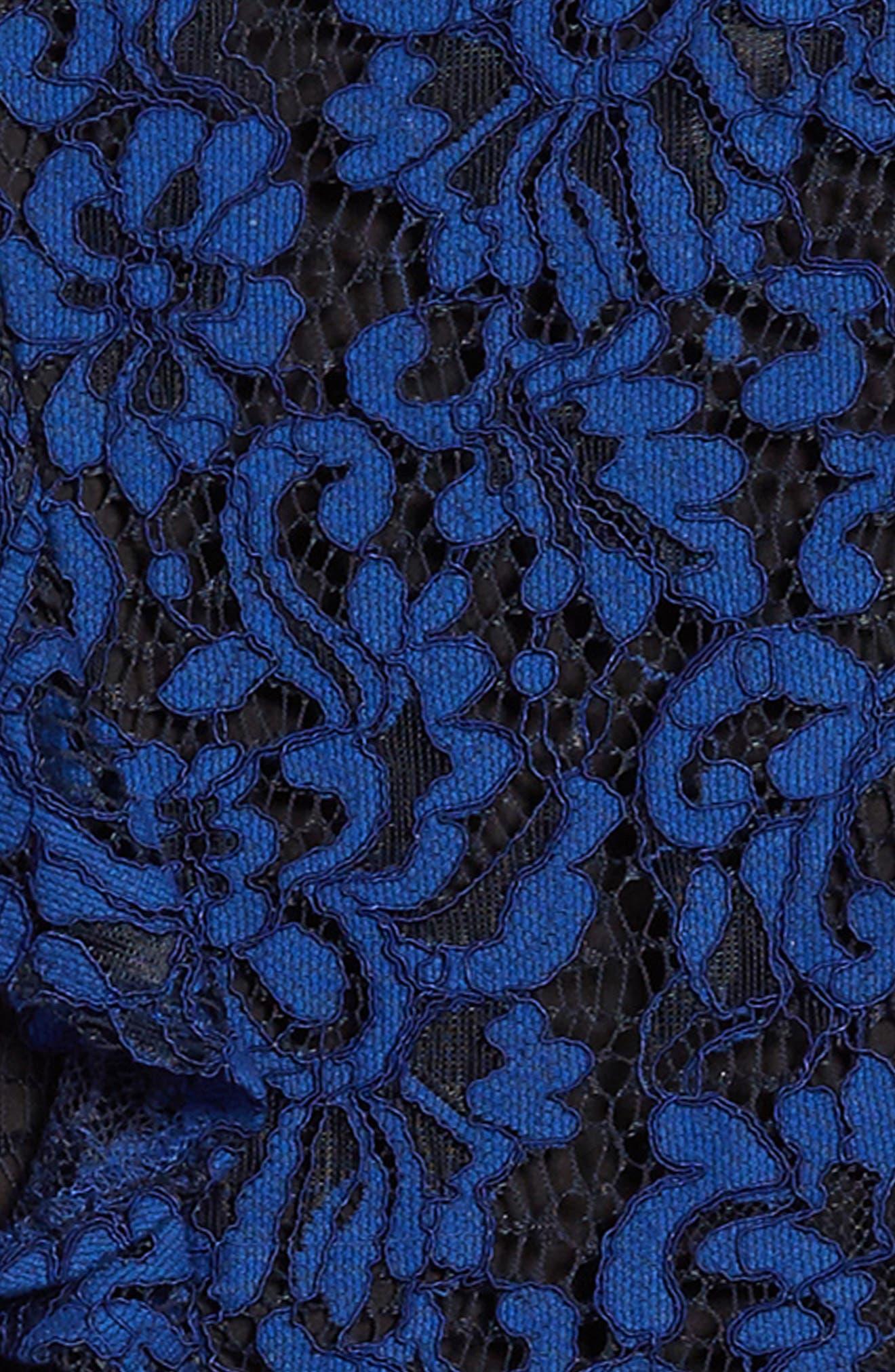 Ruffle Lace Cold Shoulder Dress,                             Alternate thumbnail 3, color,
