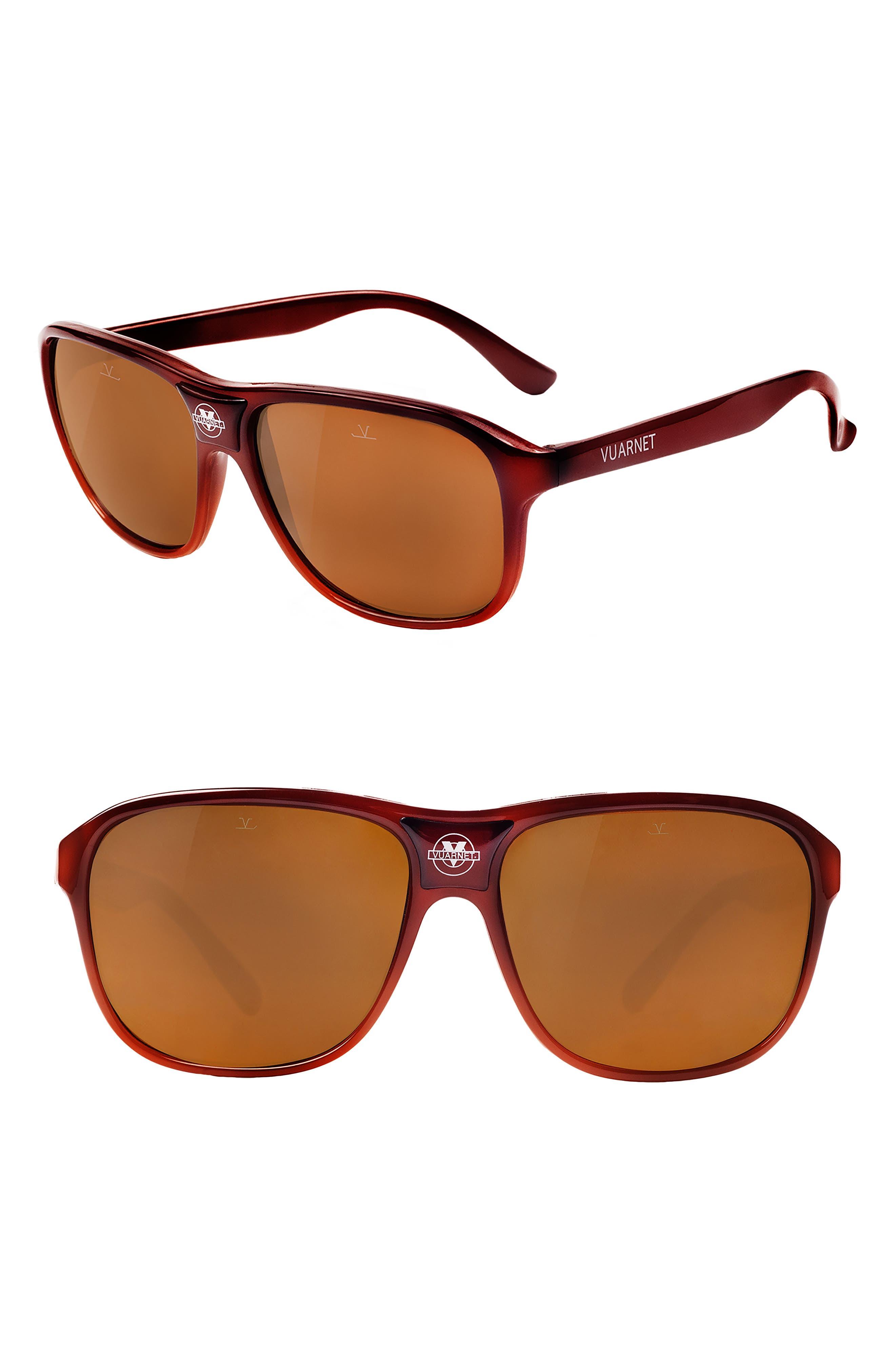 Legends 03 56mm Polarized Sunglasses,                             Main thumbnail 1, color,                             GRADIENT BROWN