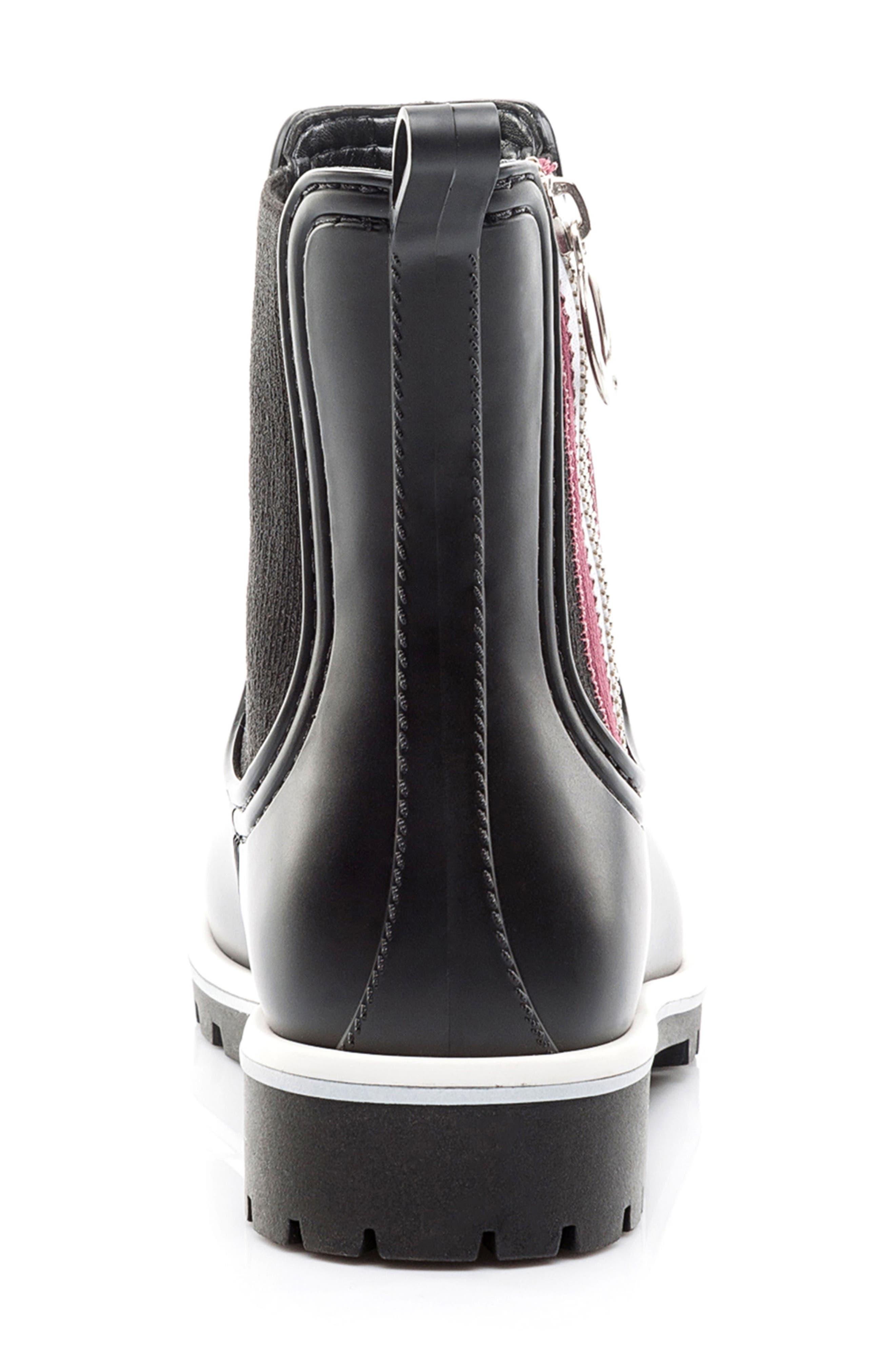 Zip Rain Boot,                             Alternate thumbnail 7, color,                             001