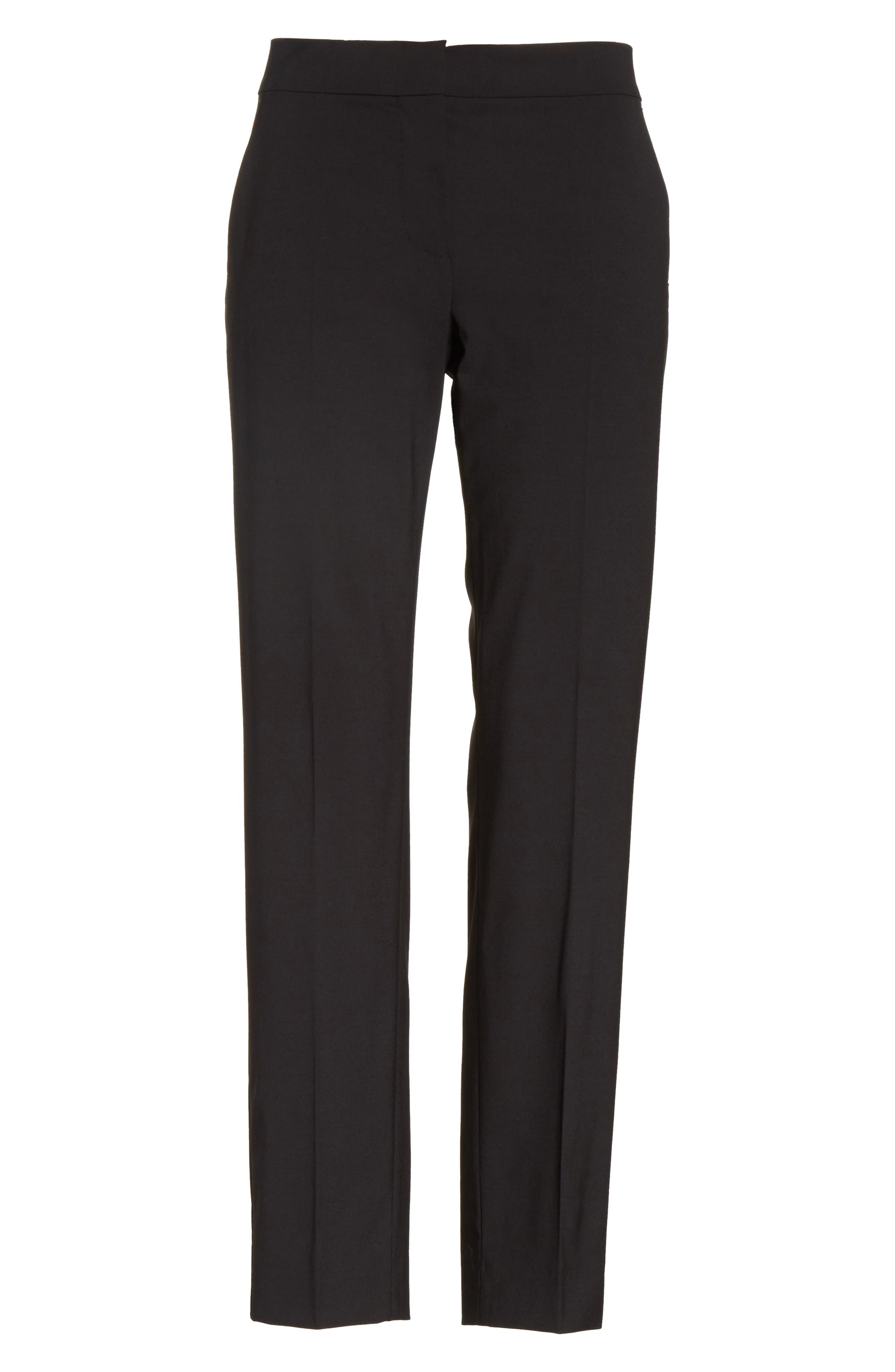 Giga Stretch Wool Crop Pants,                             Alternate thumbnail 6, color,                             001
