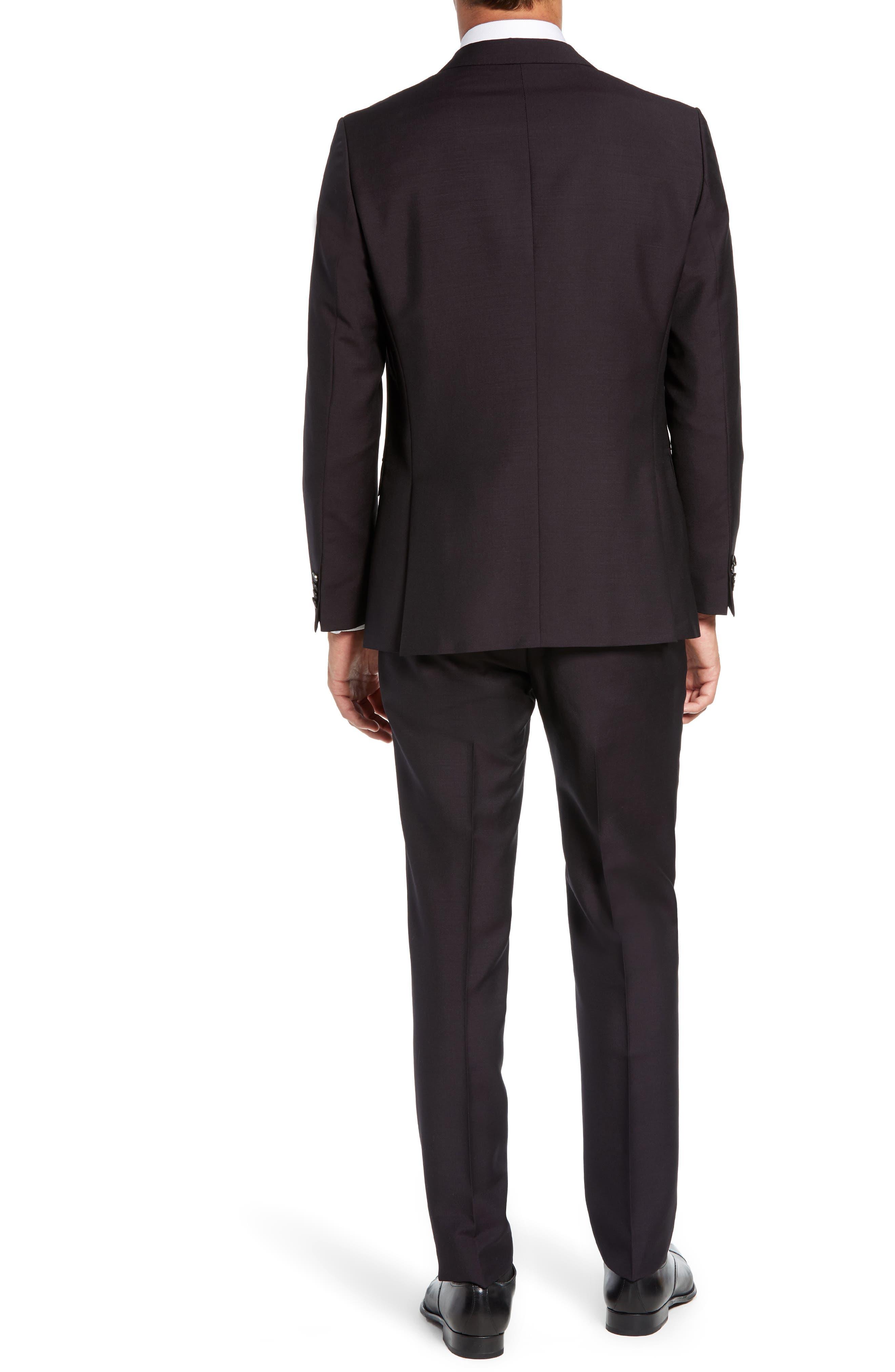 Novan/Ben Trim Fit Solid Wool & Mohair Suit,                             Alternate thumbnail 2, color,                             DARK PURPLE