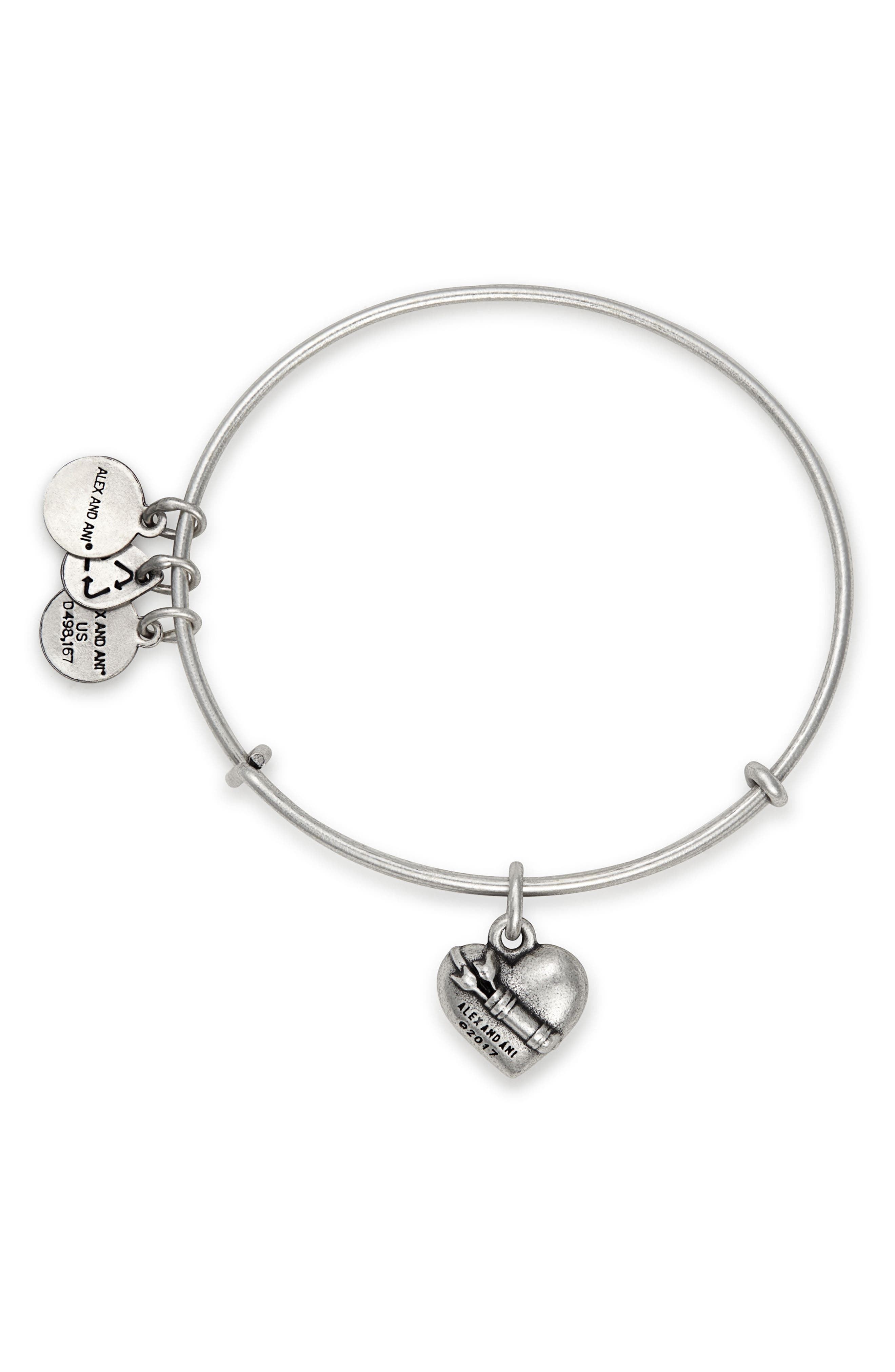 Cupid's Heart Expandable Charm Bracelet,                             Alternate thumbnail 2, color,                             040