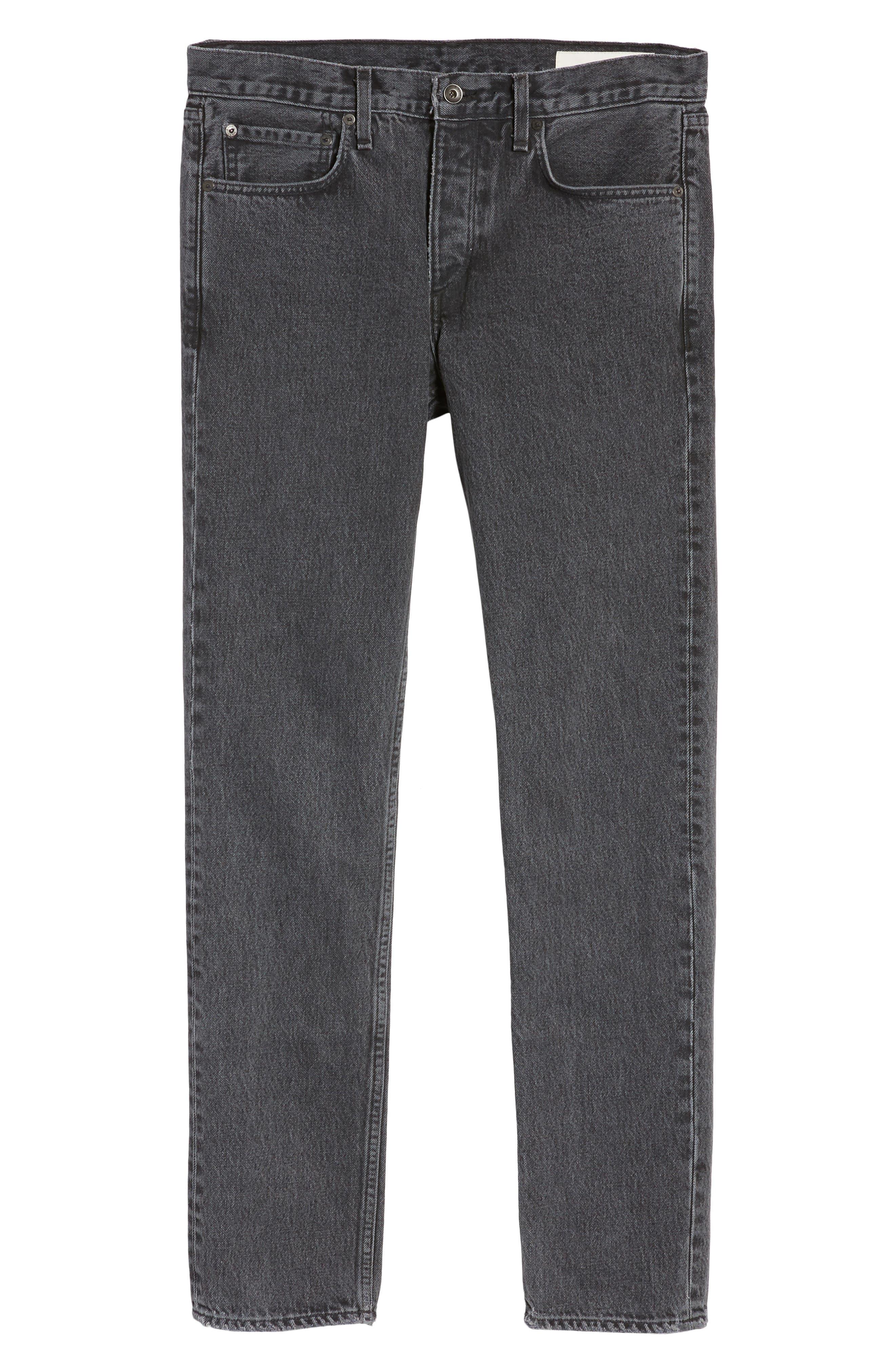 Fit 2 Slim Fit Jeans,                             Alternate thumbnail 6, color,                             001