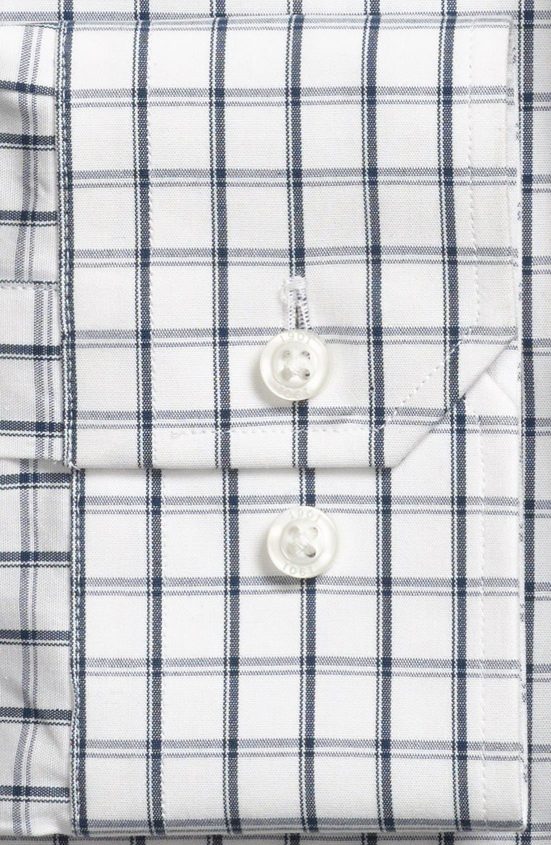 Trim Fit Check Dress Shirt,                             Alternate thumbnail 2, color,                             400