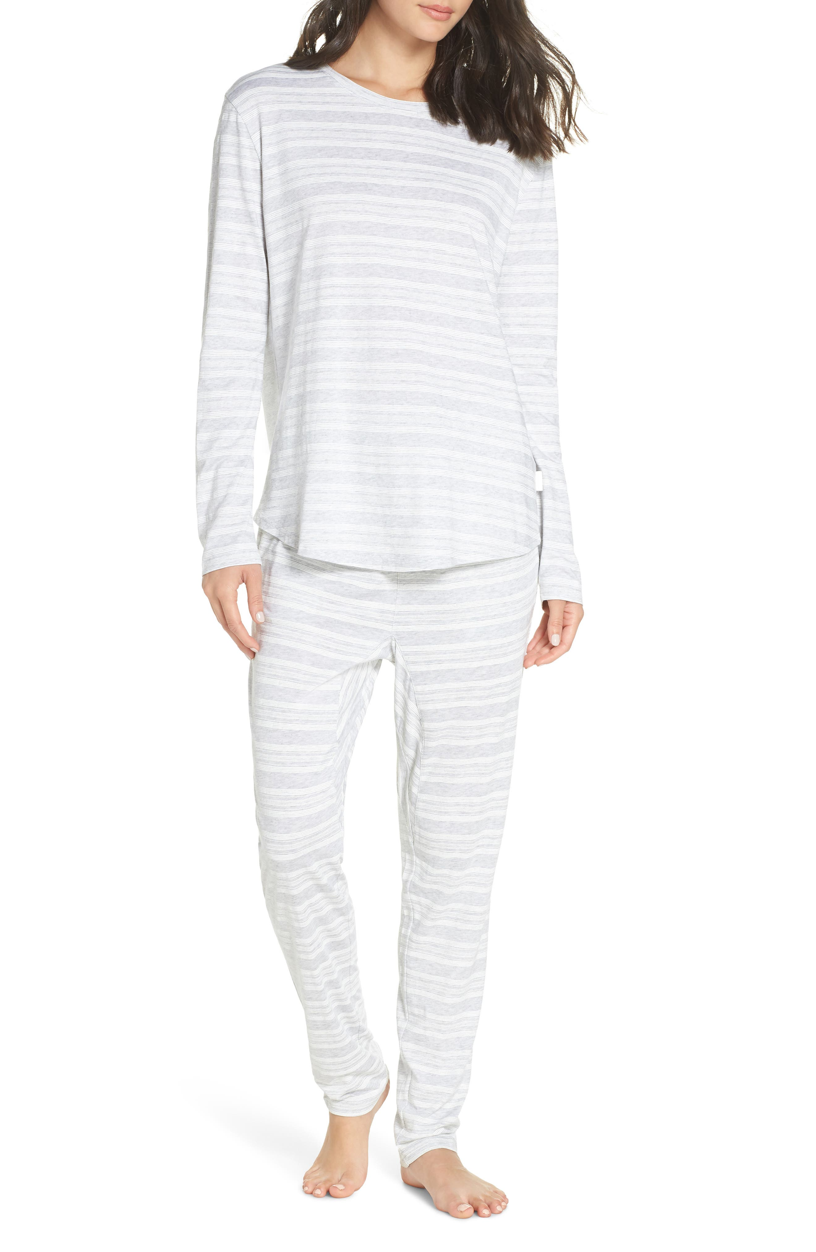 CHALMERS,                             Issy Pajama Top,                             Alternate thumbnail 7, color,                             LOLLY STRIPE WHITE