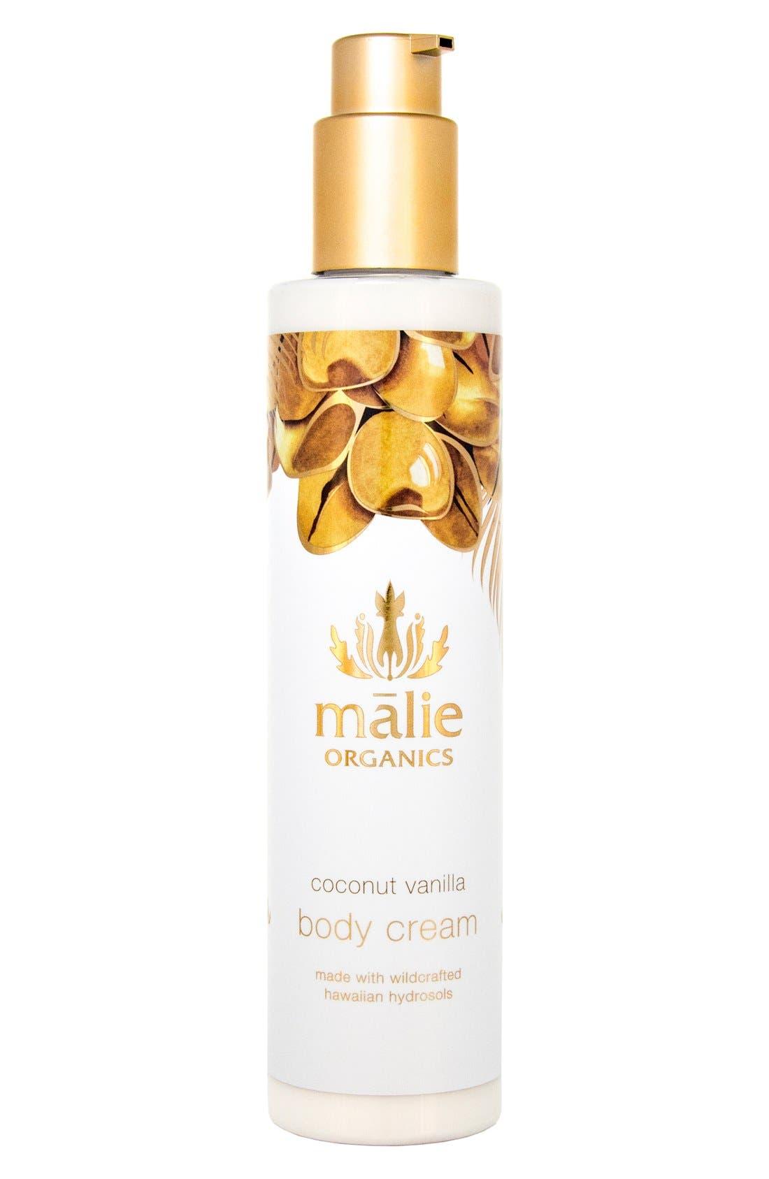 Coconut Vanilla Organic Body Cream,                             Main thumbnail 1, color,                             000