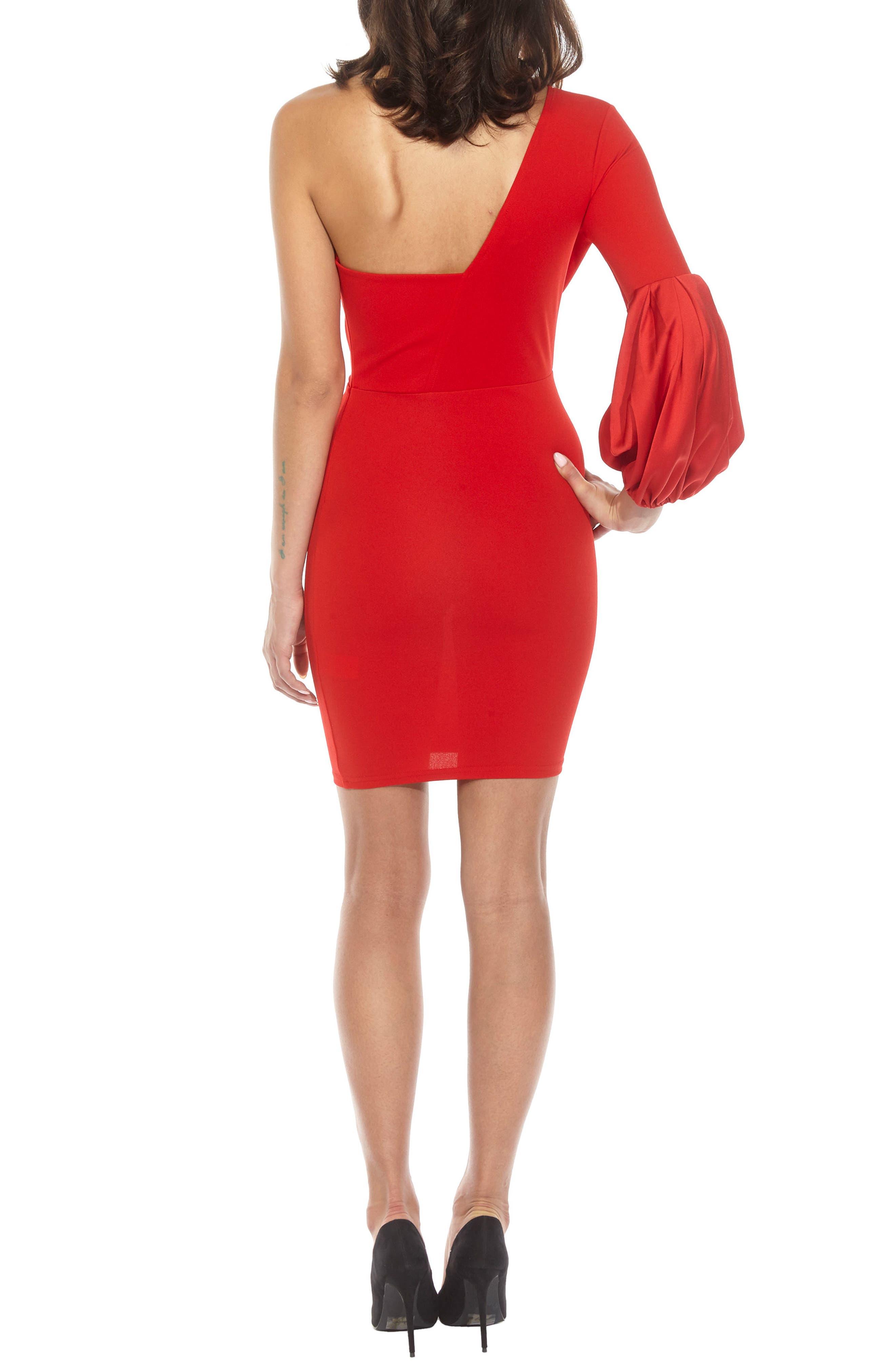 Naeva One-Shoulder Minidress,                             Alternate thumbnail 2, color,