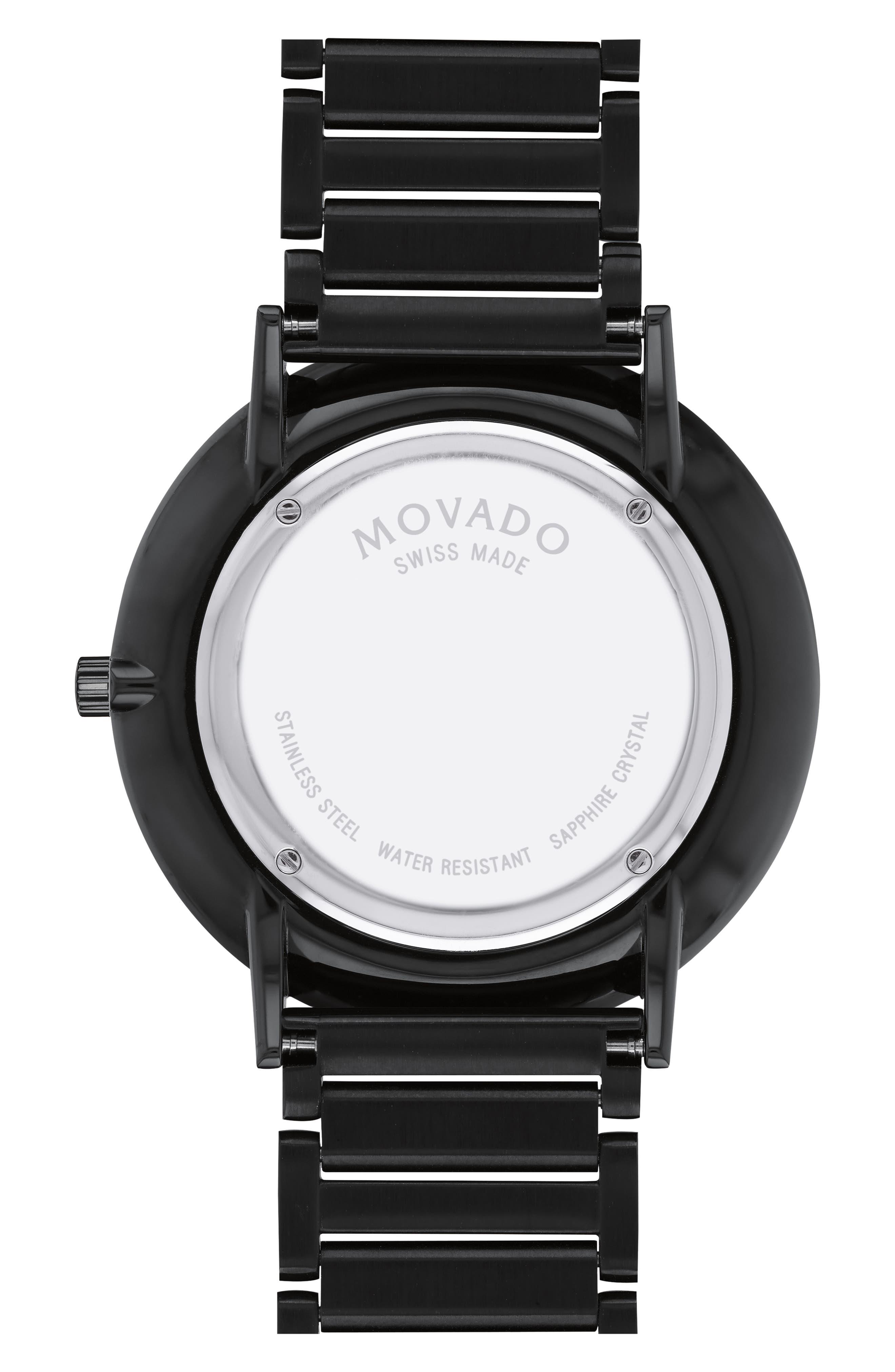 Ultra Slim Bracelet Watch, 40mm,                             Alternate thumbnail 2, color,                             BLACK