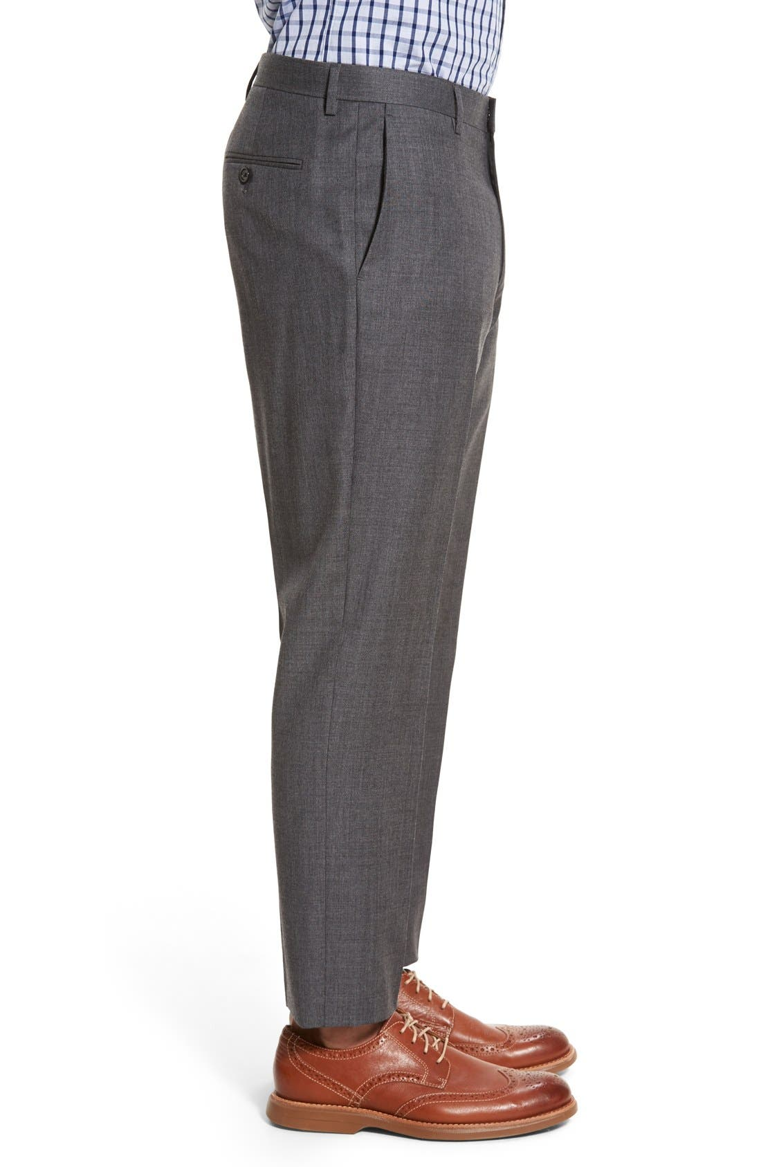 Ludlow Flat Front Solid Wool Trousers,                             Alternate thumbnail 9, color,