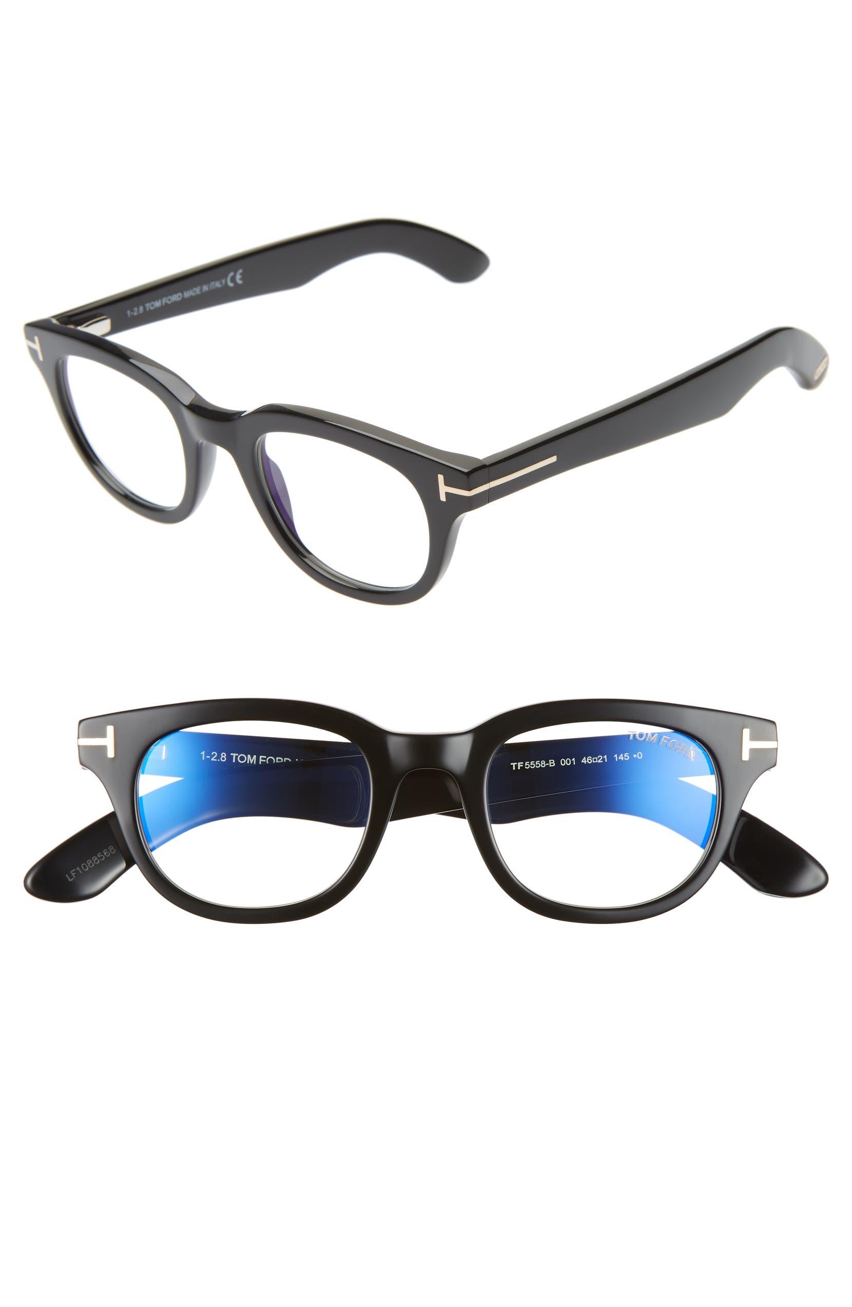 6393f73c1d0 Tom Ford 46mm Blue Light Blocking Glasses
