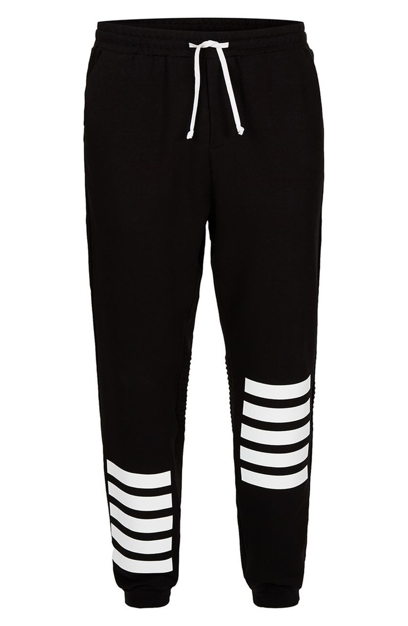 AAA Collection Stripe Jogger Pants,                             Alternate thumbnail 4, color,                             001