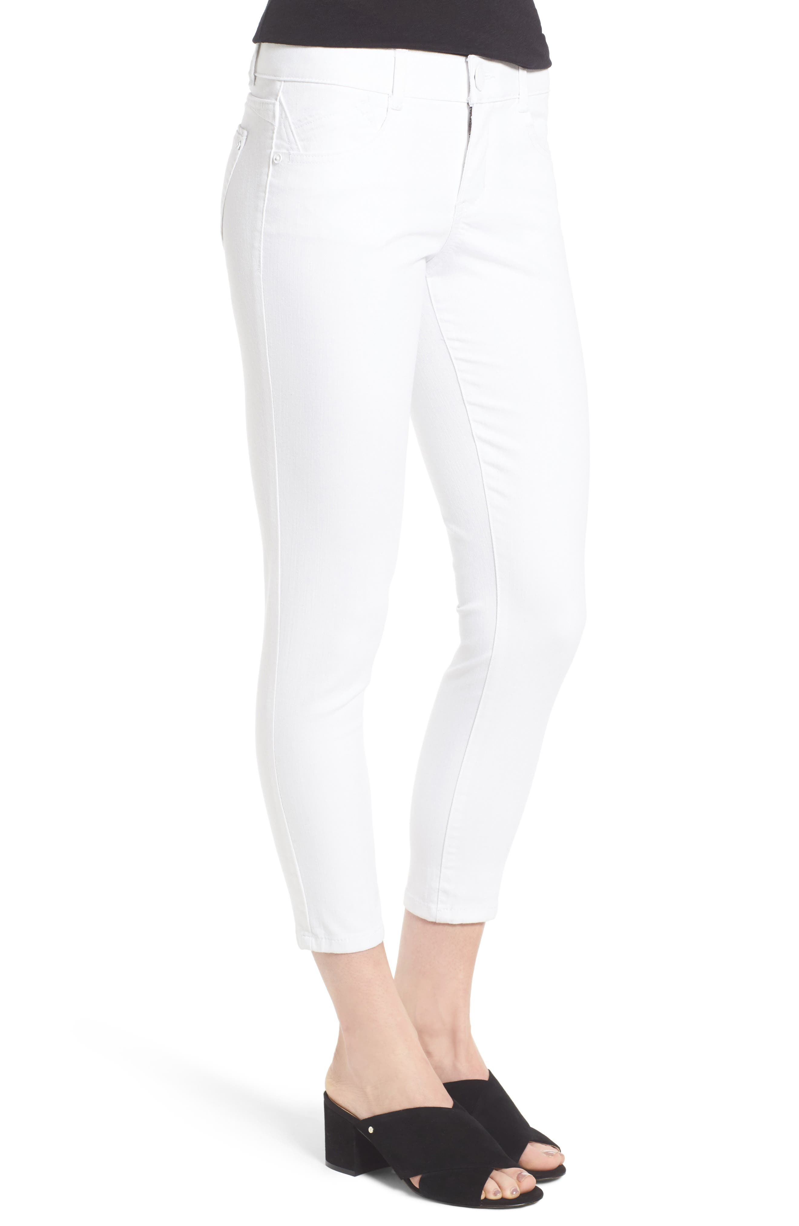 Ab-solution Skinny Crop Jeans,                             Alternate thumbnail 3, color,                             101