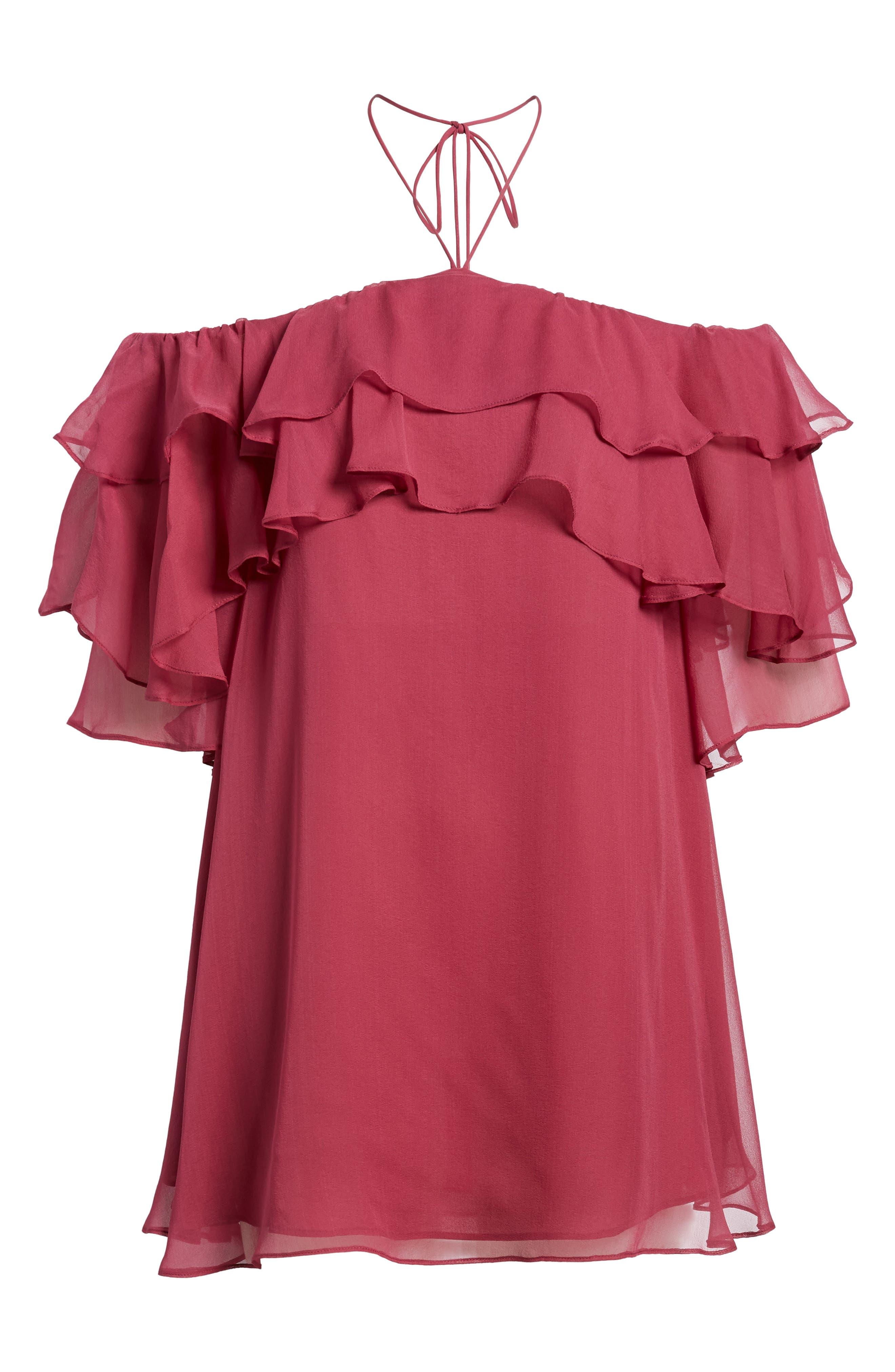 Dena Off the Shoulder Shift Dress,                             Alternate thumbnail 12, color,