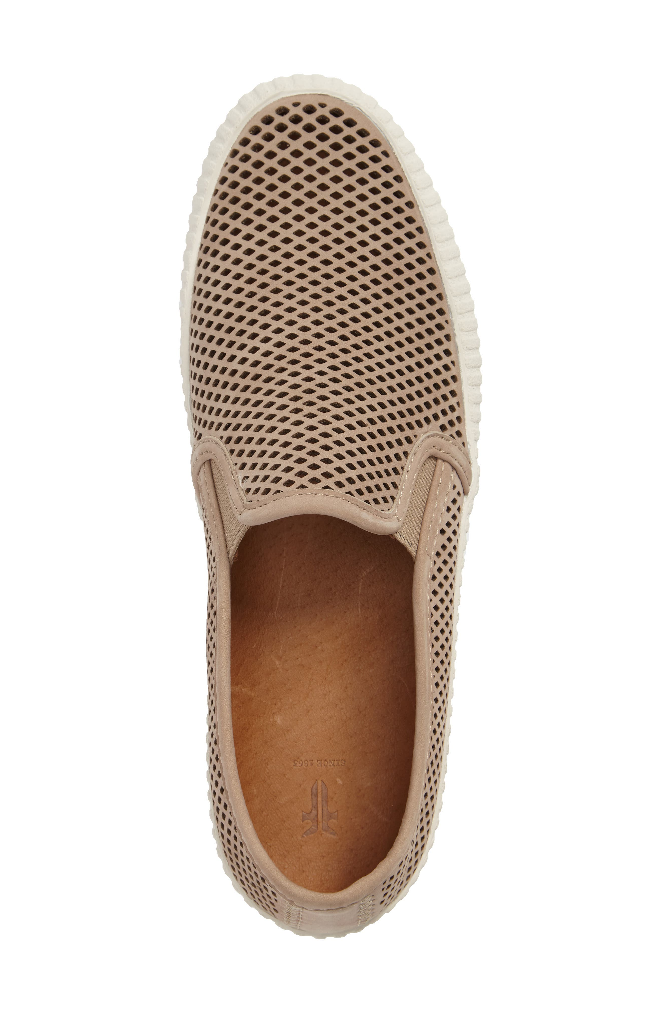 Camille Perforated Slip-On Sneaker,                             Alternate thumbnail 6, color,
