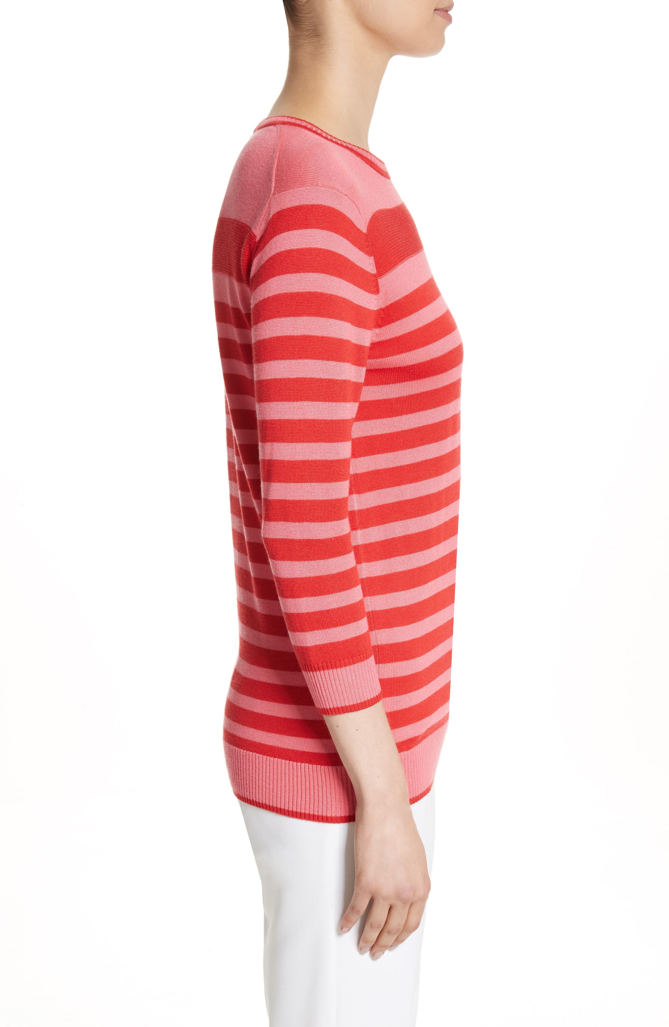 Intarsia Stripe Sweater,                             Alternate thumbnail 3, color,                             660