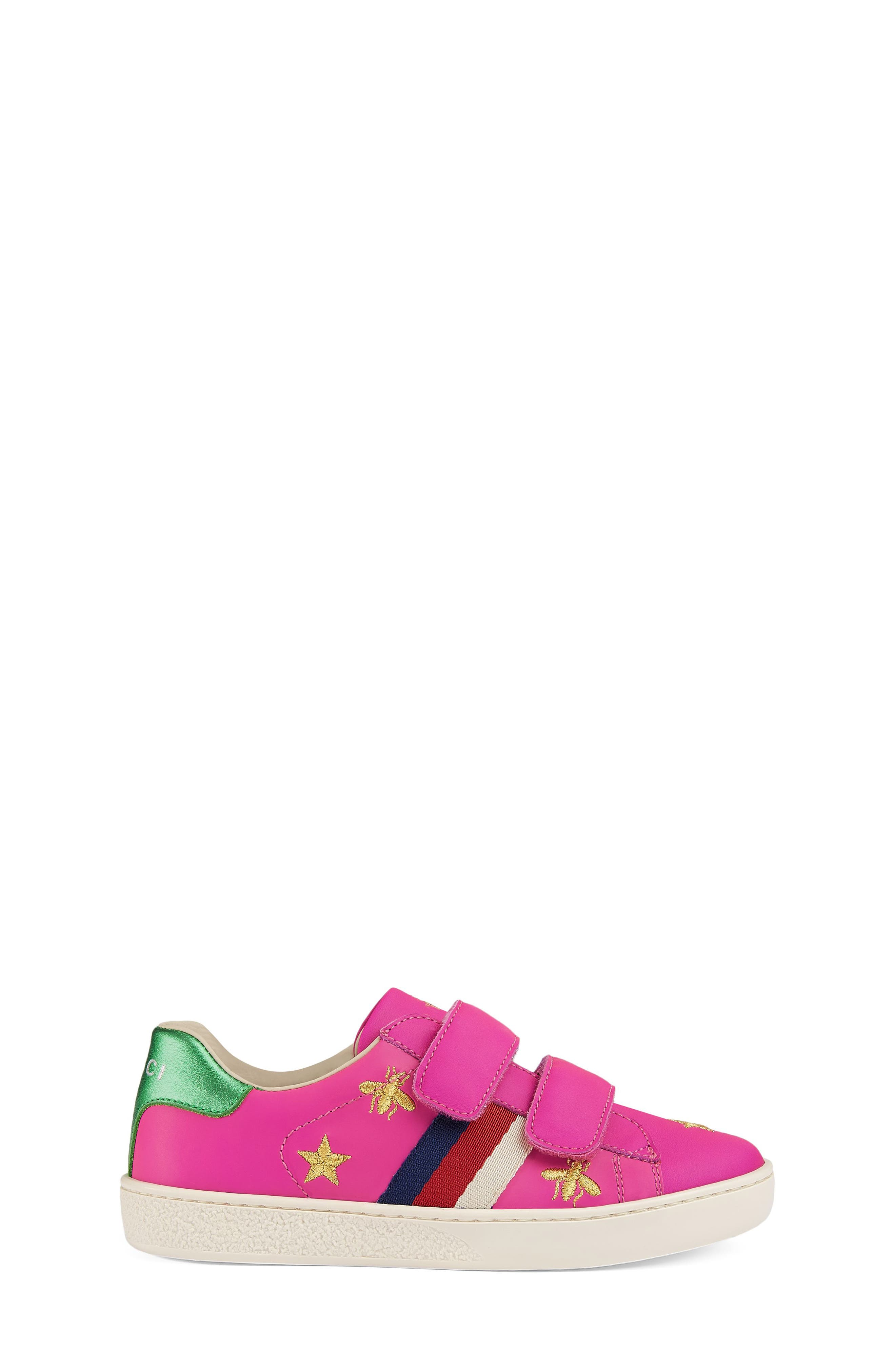 New Ace Embroidered Sneaker,                             Alternate thumbnail 3, color,                             PINK STAR