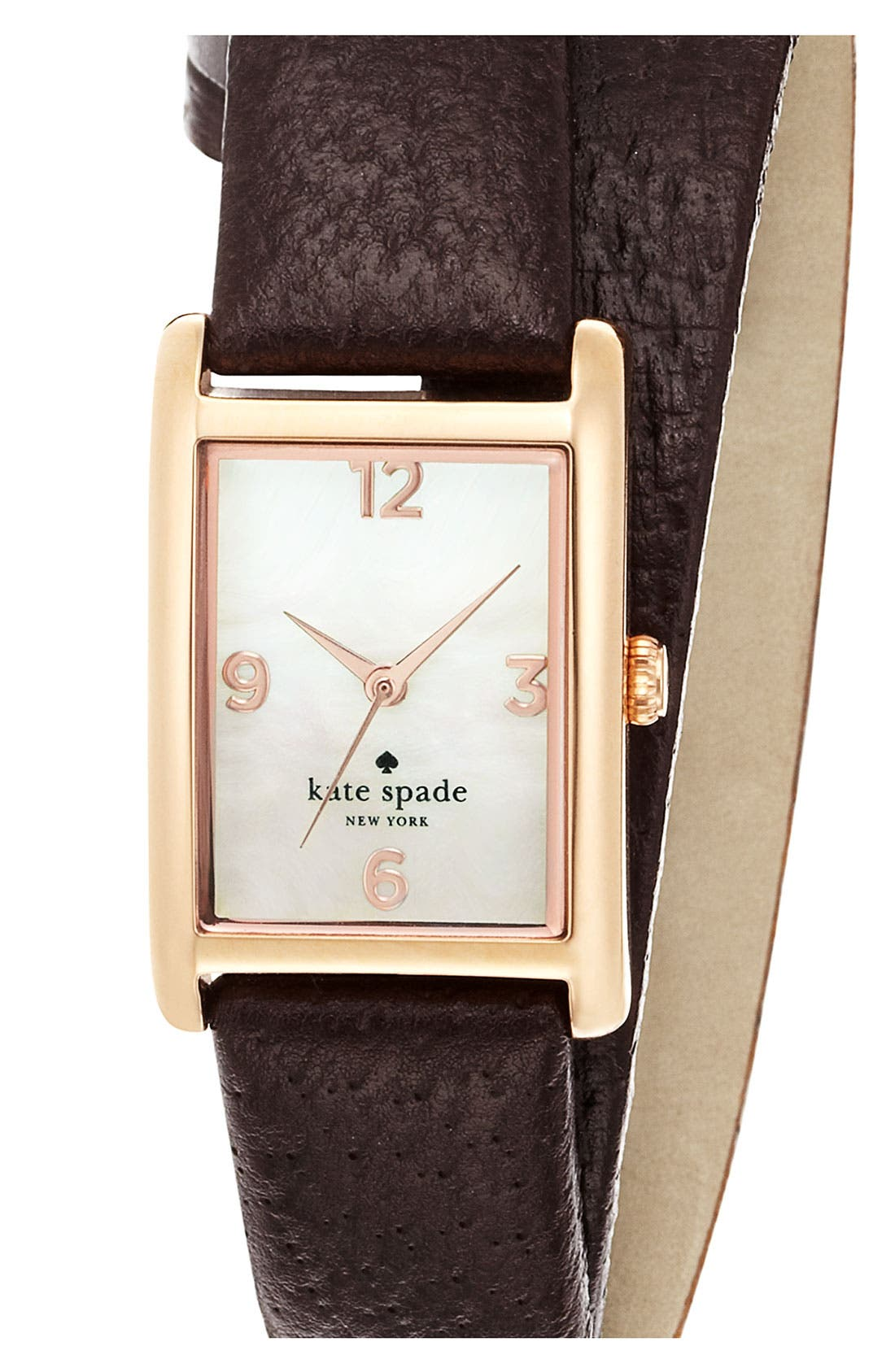 'cooper' leather strap watch, 21mm x 32mm,                             Main thumbnail 5, color,