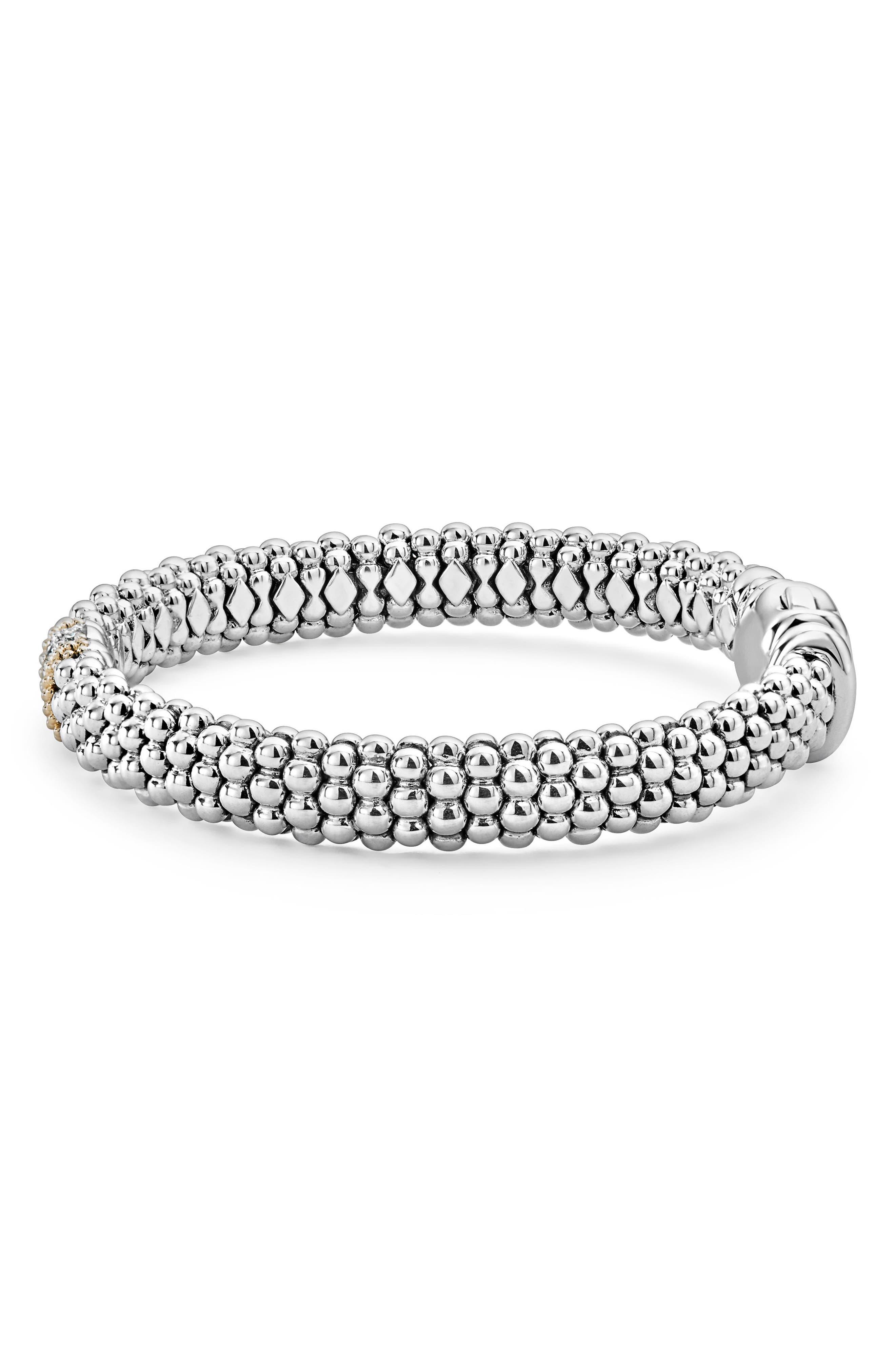 Luxe Pavé Diamond 9mm Bracelet,                             Alternate thumbnail 4, color,                             DIAMOND