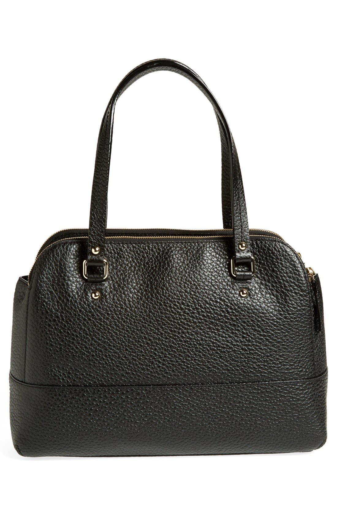 'grove court - lainey' leather tote,                             Alternate thumbnail 3, color,                             001