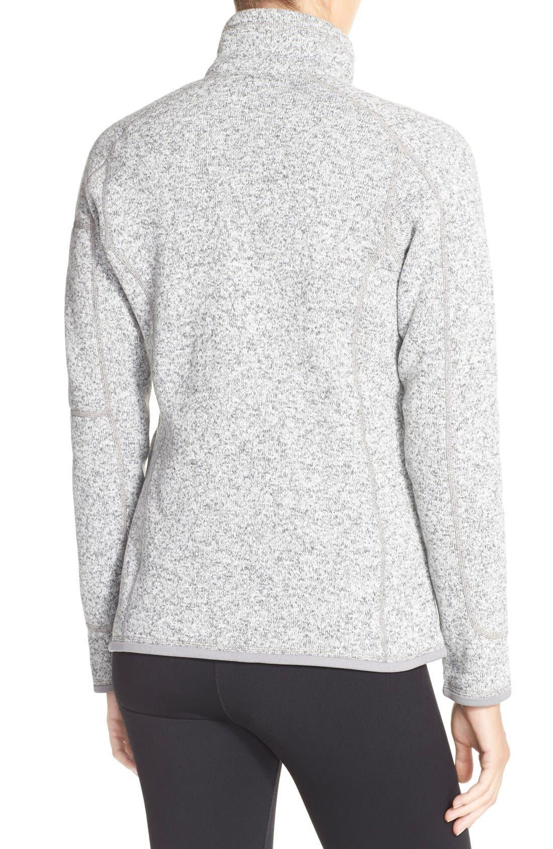 'BetterSweater' Jacket,                             Alternate thumbnail 3, color,                             BIRCH WHITE