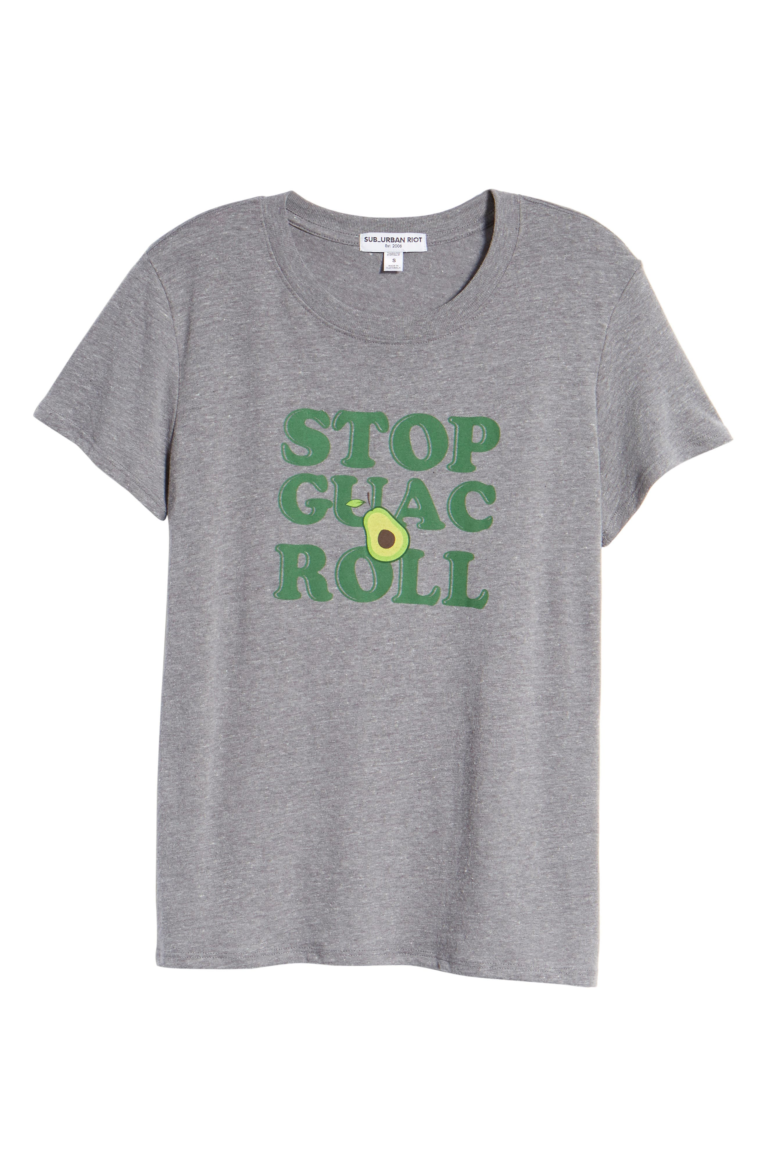 Stop, Guac & Roll Slouched Tee,                             Alternate thumbnail 6, color,                             050