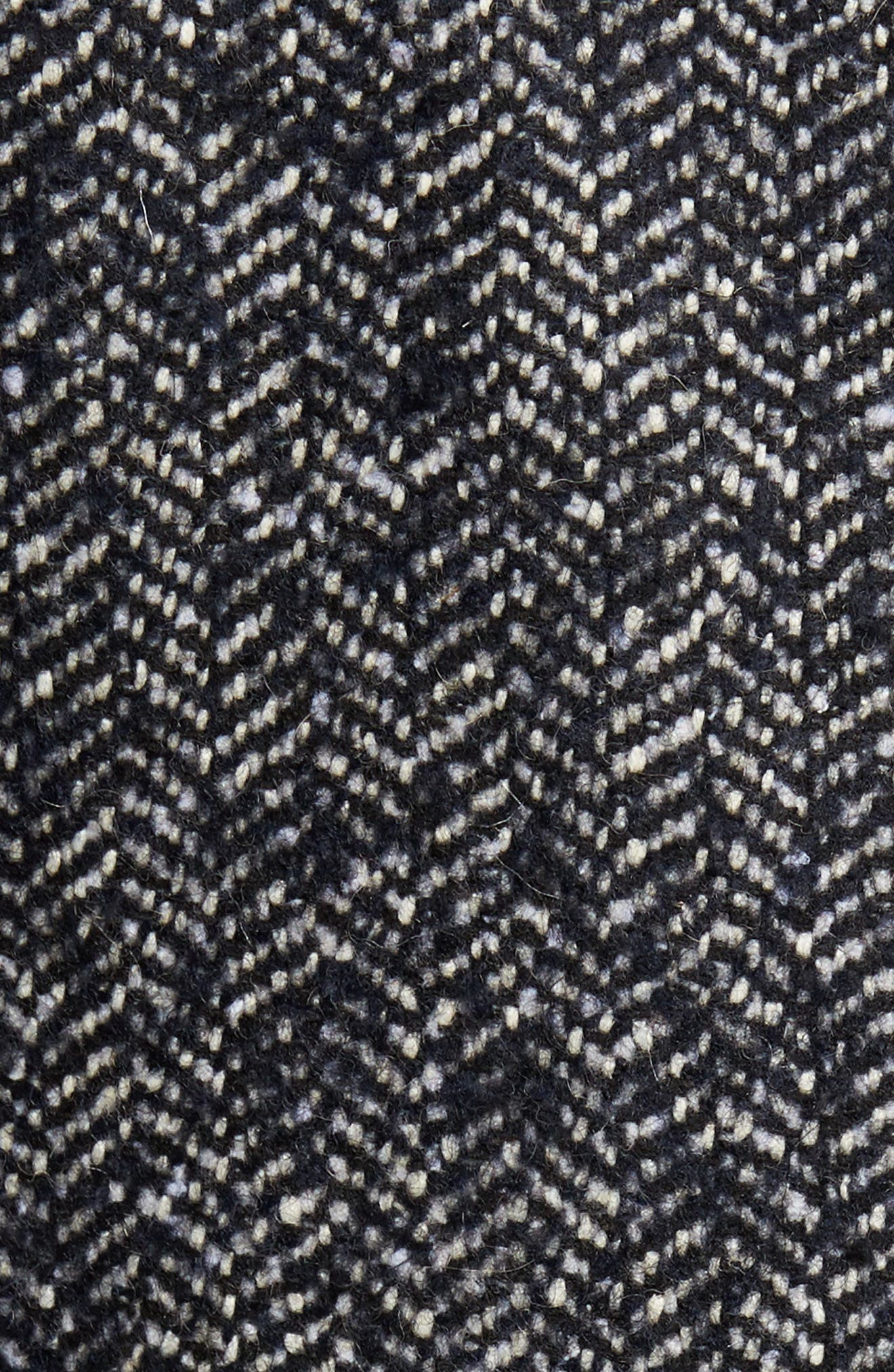 Bouclé Herringbone Topcoat,                             Alternate thumbnail 6, color,                             410