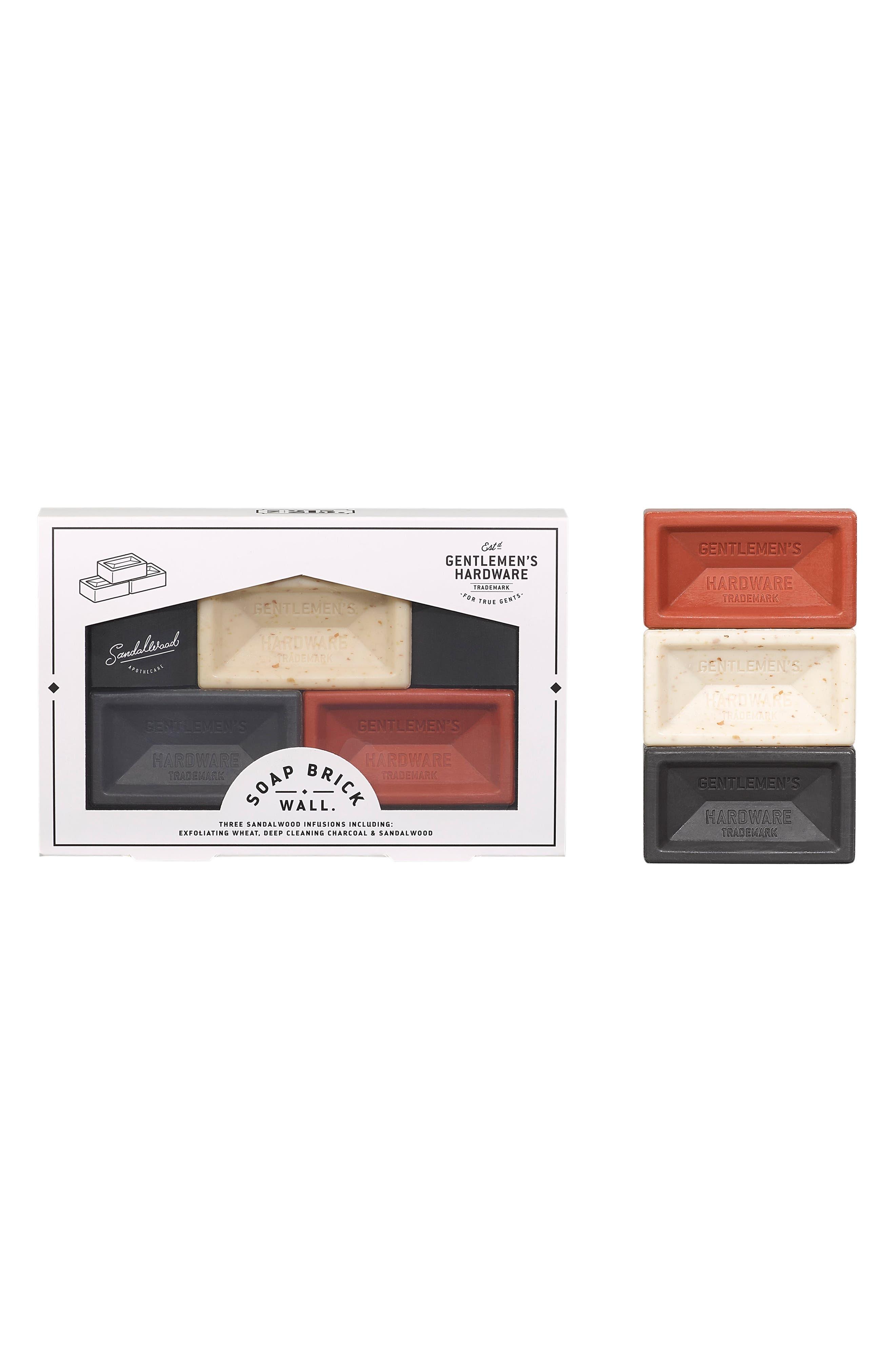 Brick Brick Wall Soap Trio,                             Alternate thumbnail 3, color,                             NO COLOR