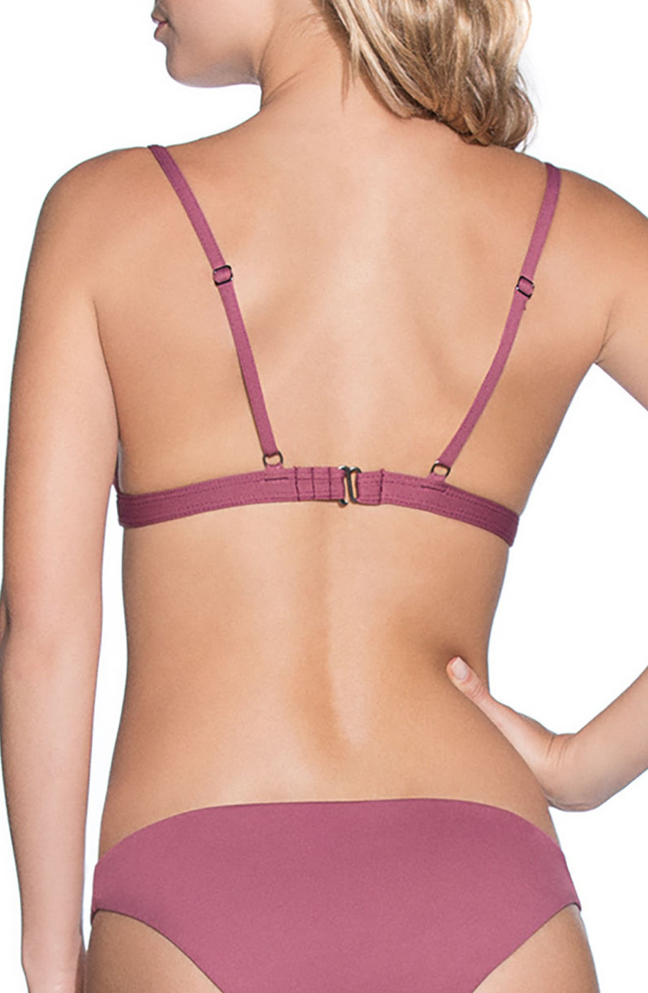 Juneberry Delightful Reversible Bikini Top,                             Alternate thumbnail 3, color,                             650
