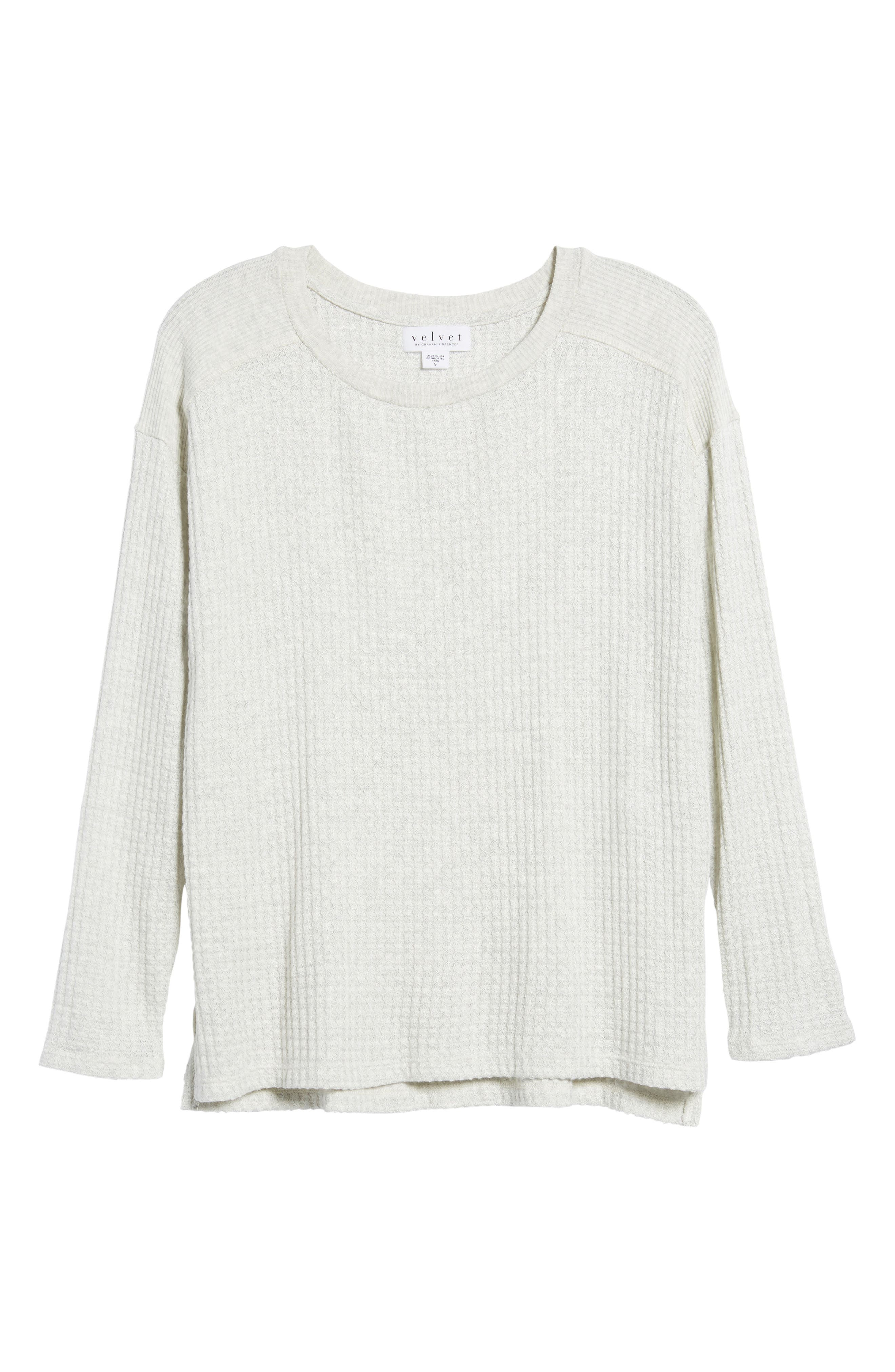 Thermal Knit Top,                             Alternate thumbnail 6, color,
