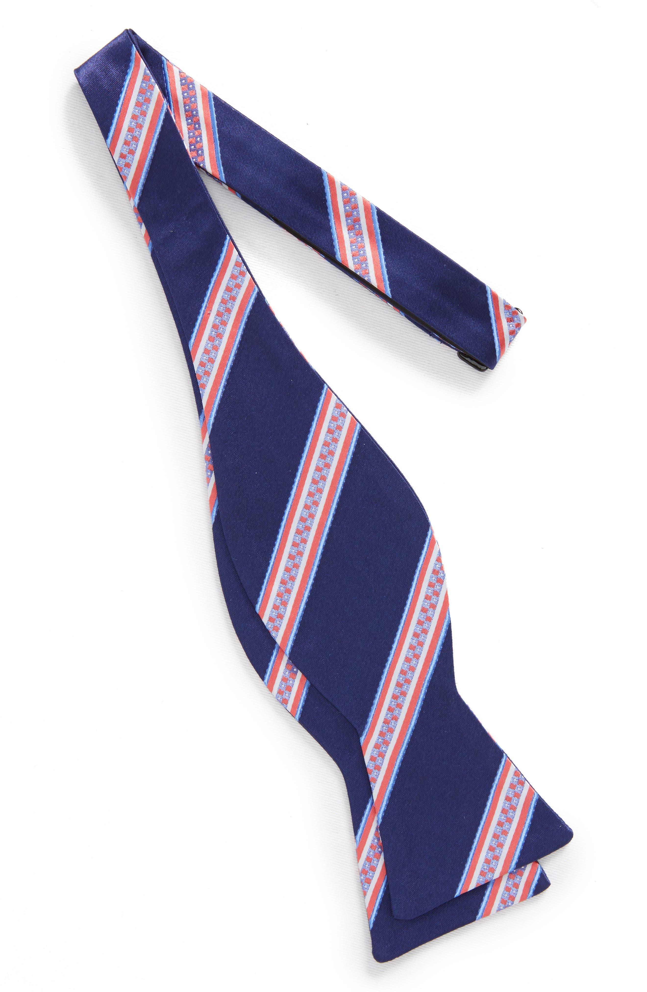 Stripe Silk Bow Tie,                             Alternate thumbnail 2, color,                             411
