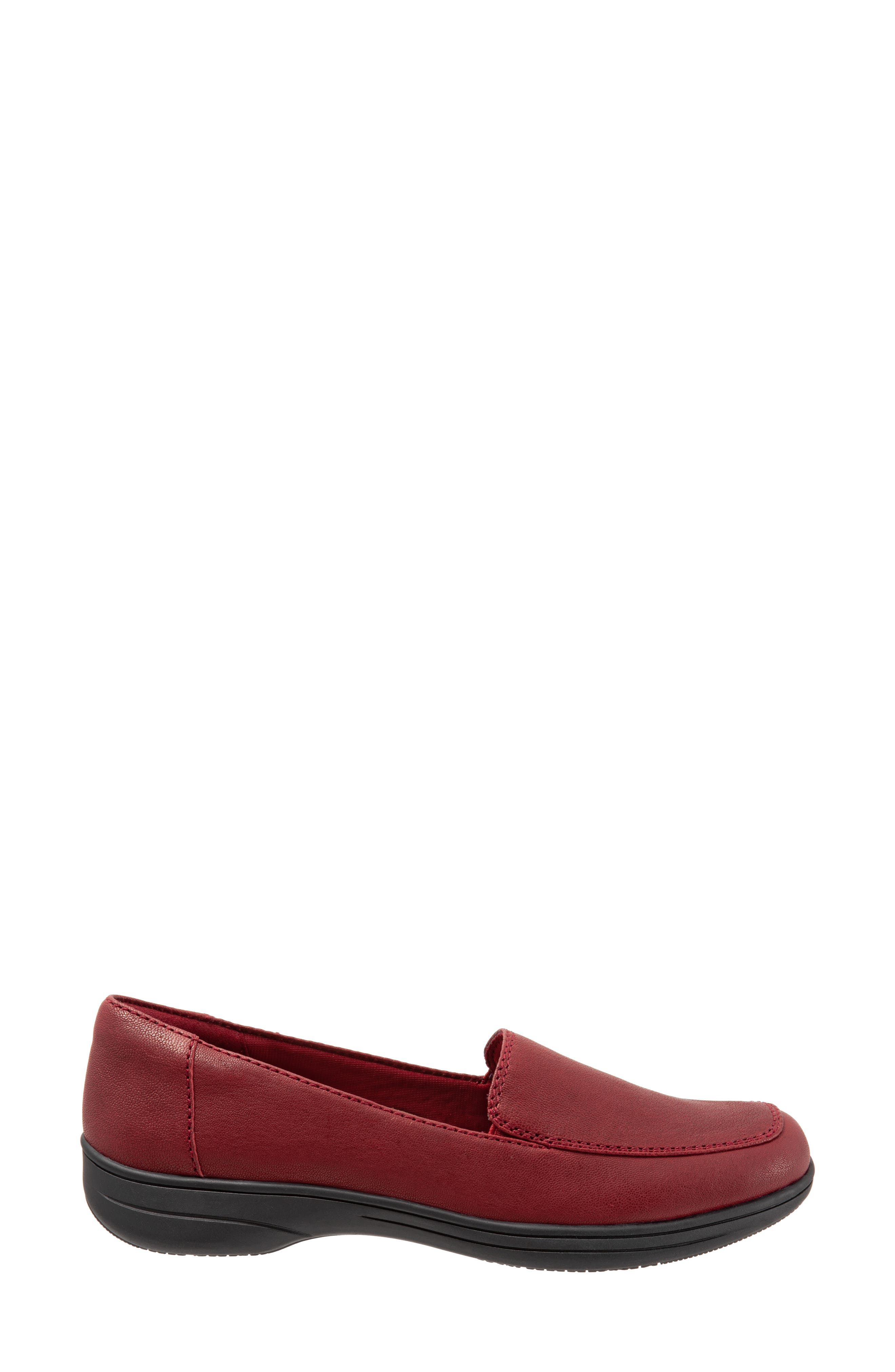 Jacob Loafer,                             Alternate thumbnail 3, color,                             DARK RED LEATHER
