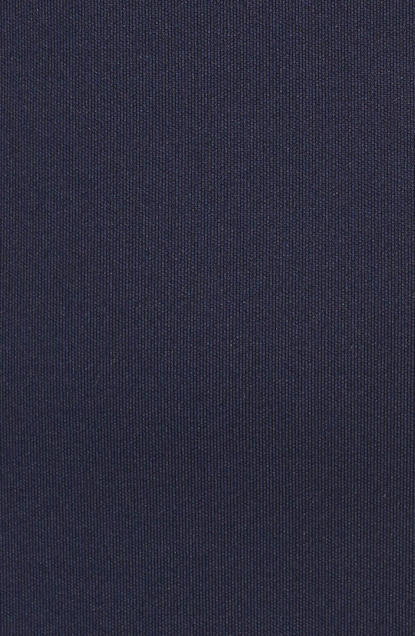 One-Shoulder Ruffle Sheath Dress,                             Alternate thumbnail 6, color,                             NAVY