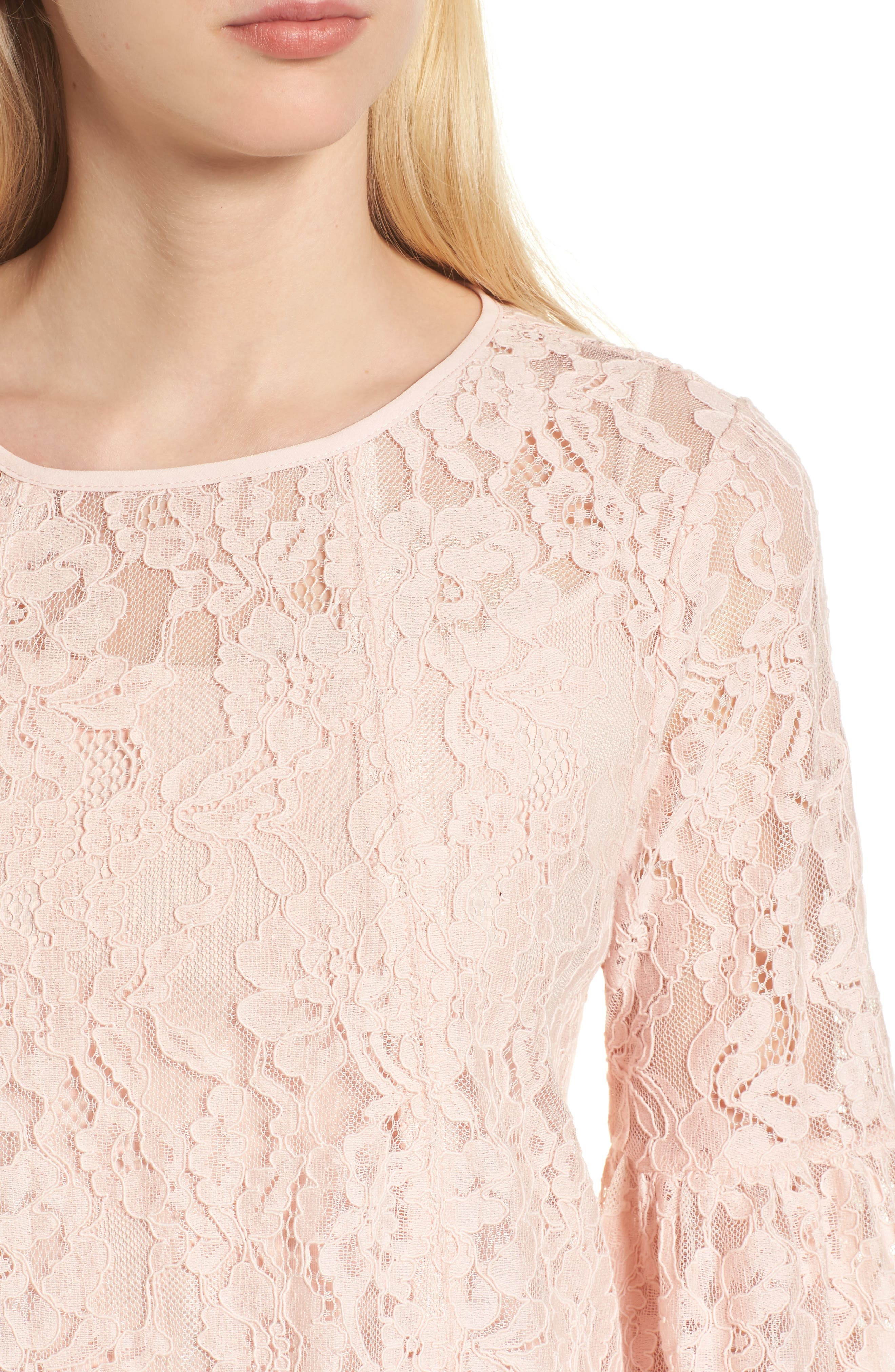 Bell Sleeve Lace Top,                             Alternate thumbnail 11, color,