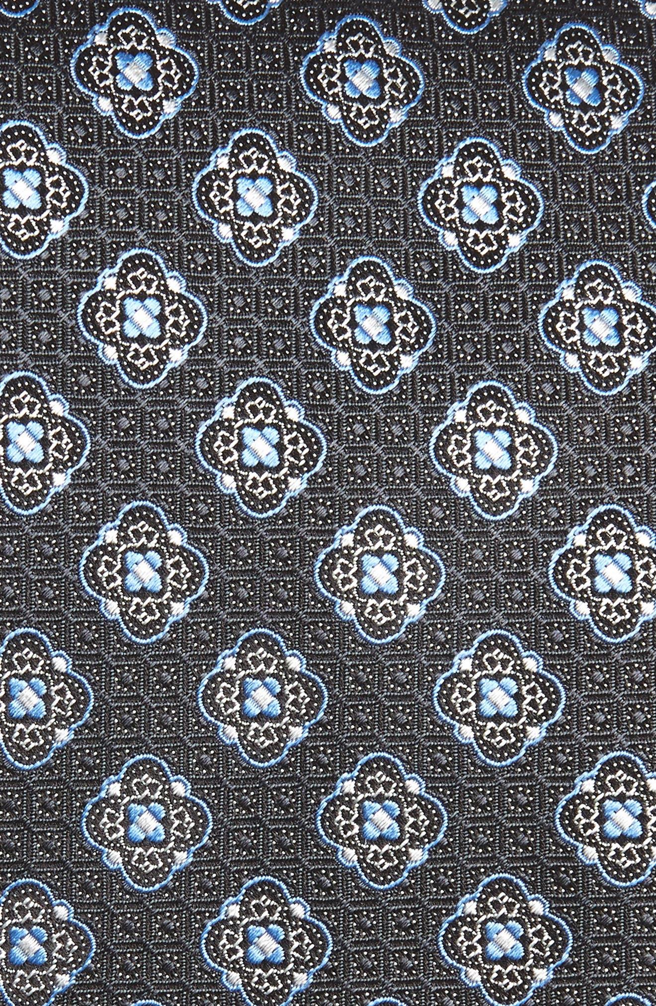Medallion Silk Tie,                             Alternate thumbnail 2, color,                             028